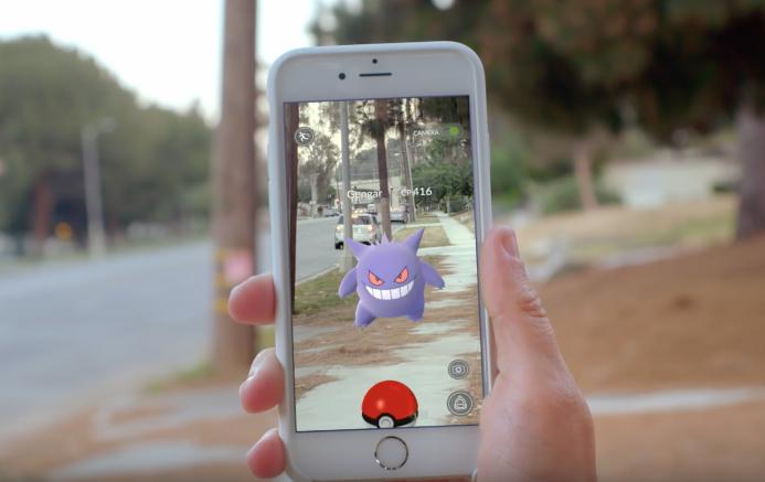 Mobile game simulating capturing Pokémon