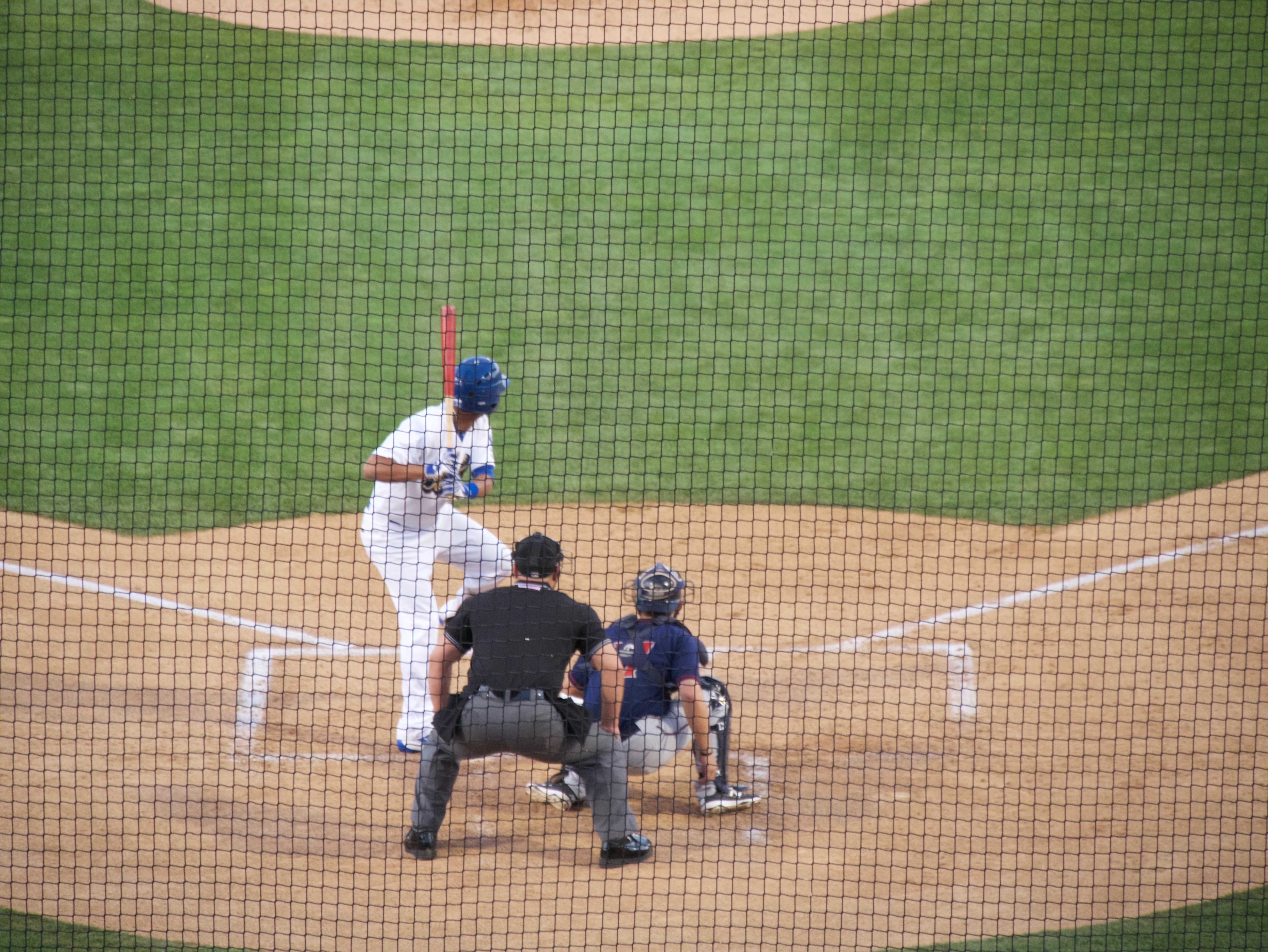 Ariel Sandoval at the plate on Saturday night