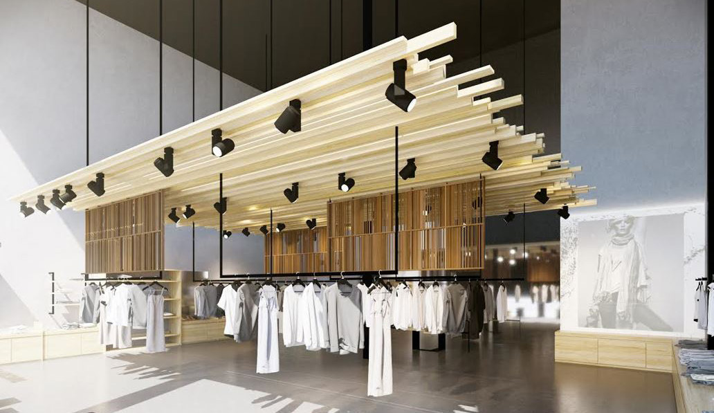 Rendering of Zadig & Voltaire's sun-infused Melrose Avenue store