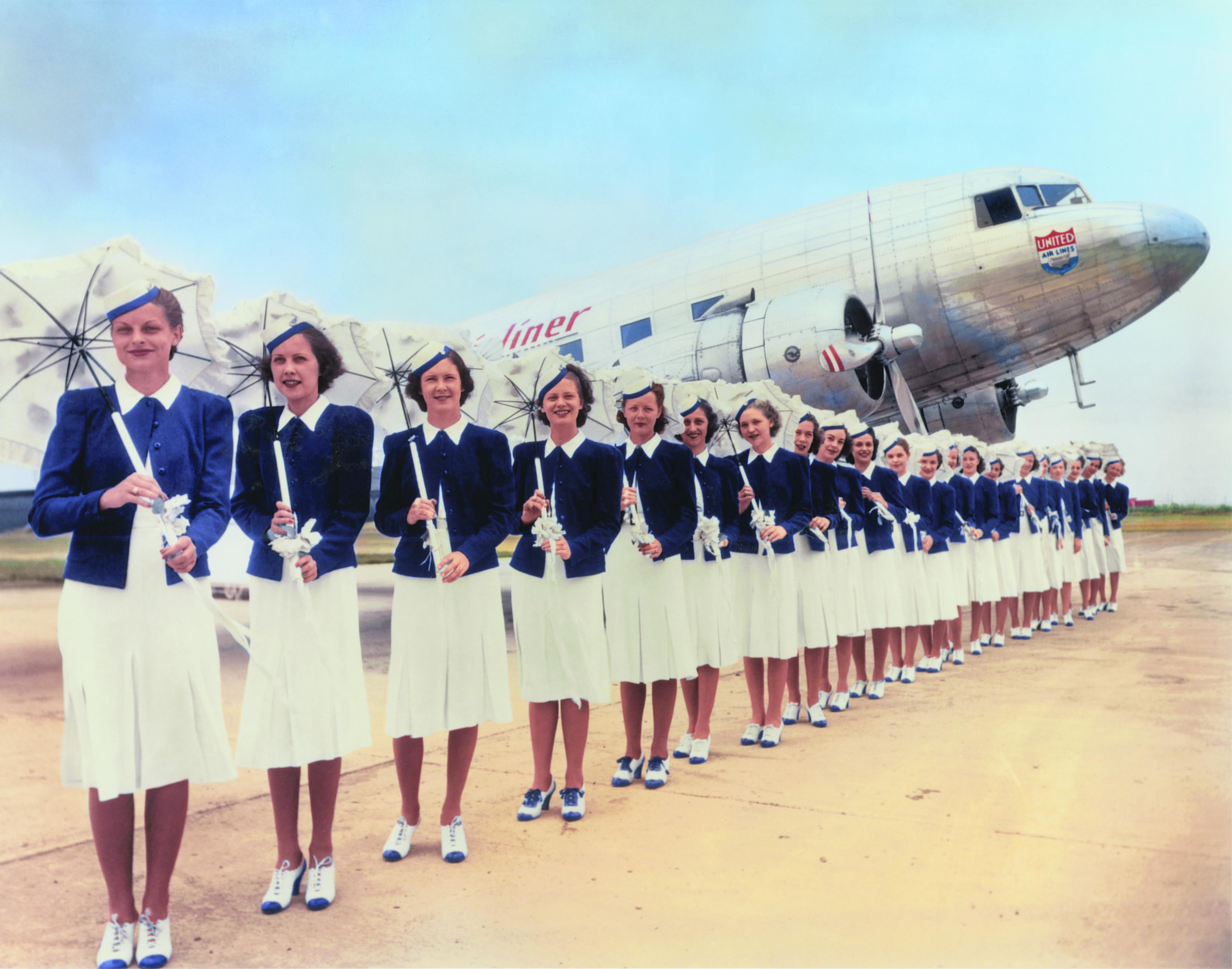 United Air Lines stewardesses, 1939