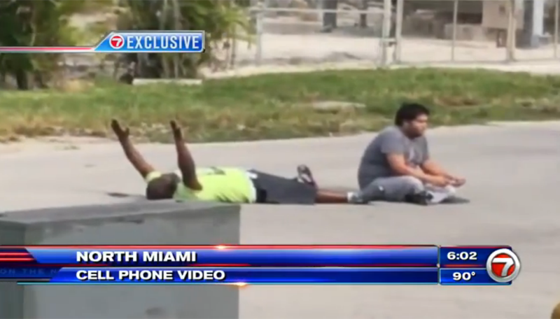 North Miami police allegedly shoot black man as he held hands up while lying on the ground