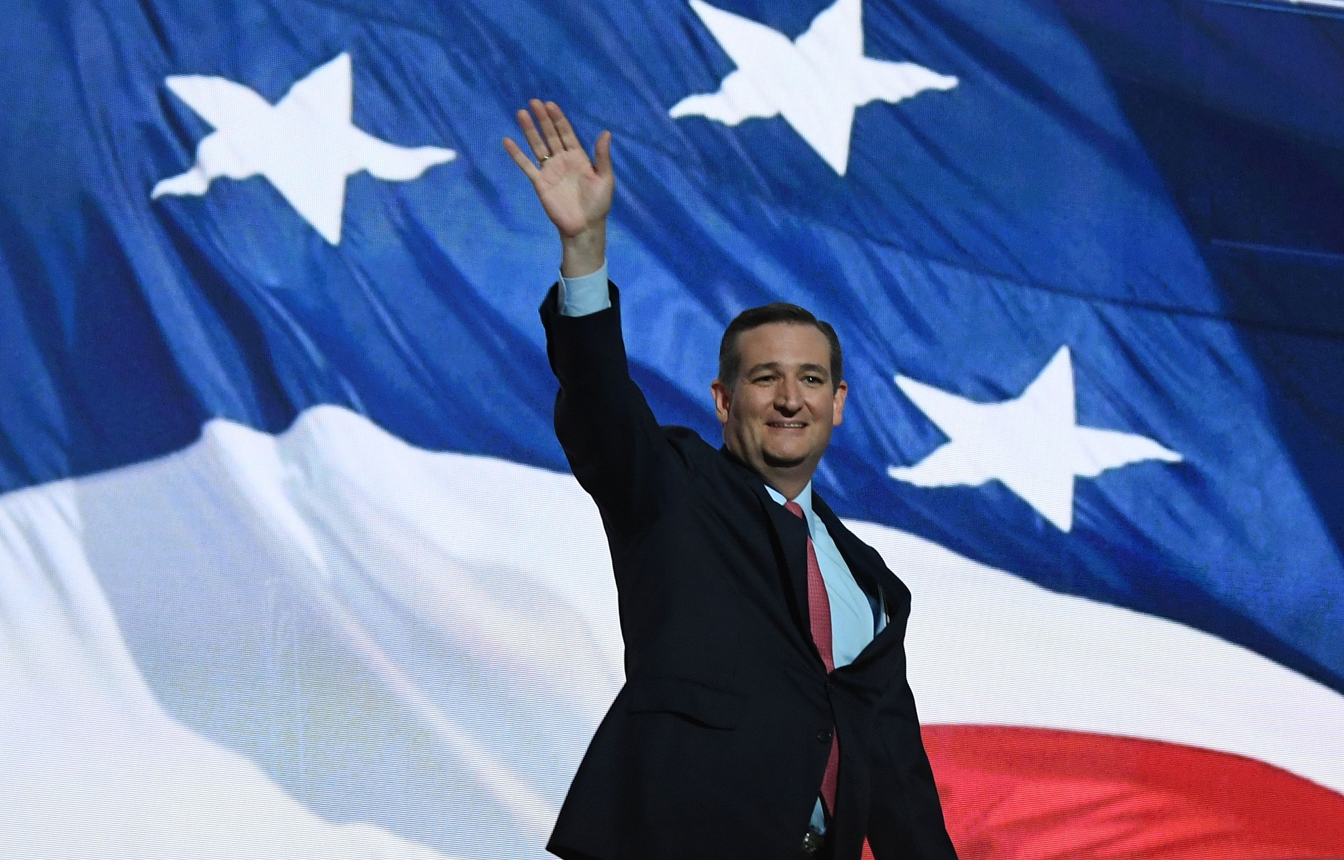 Ted Cruz takes the stage at the 2016 Republican National Convention.