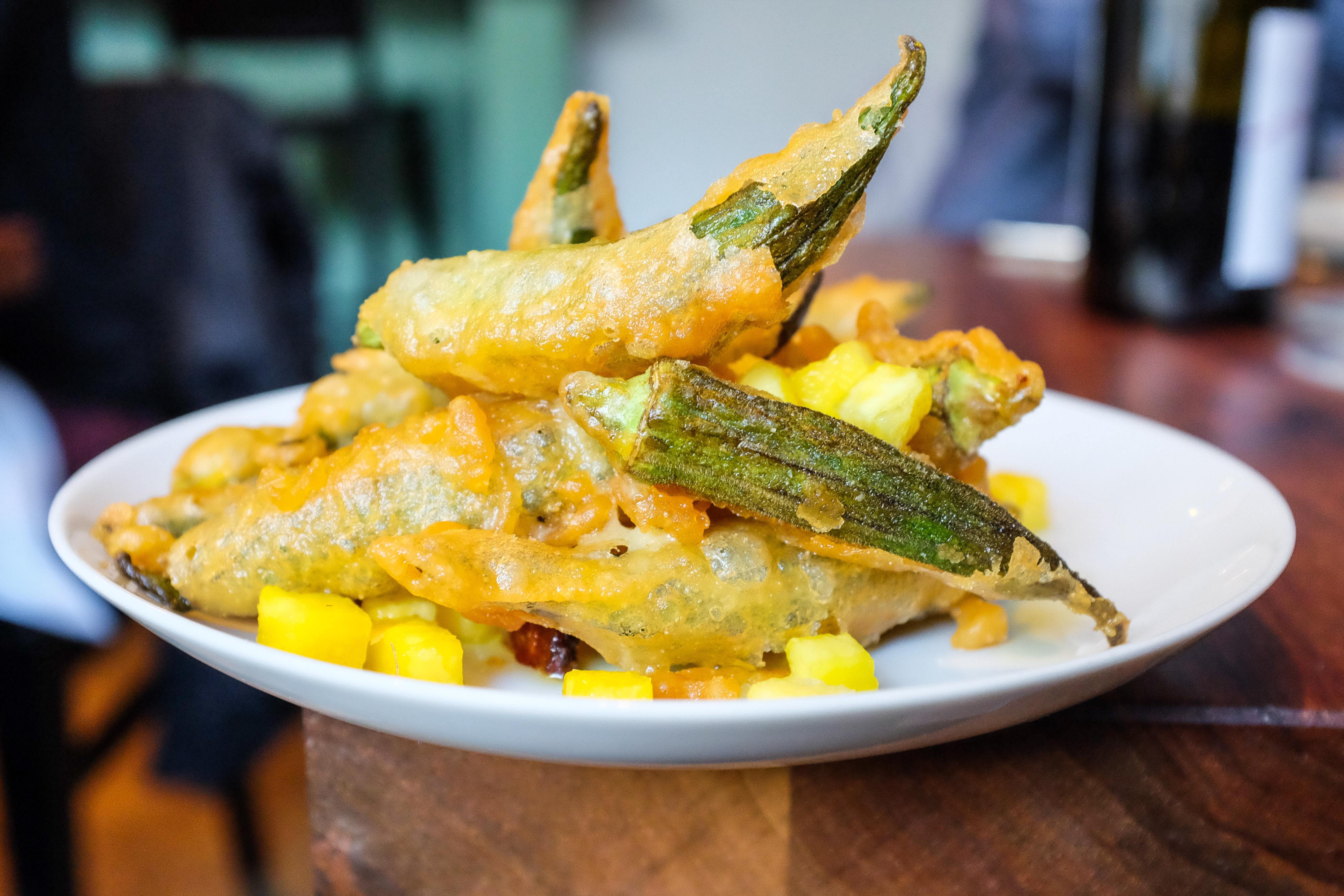 Fried okra at Salare.