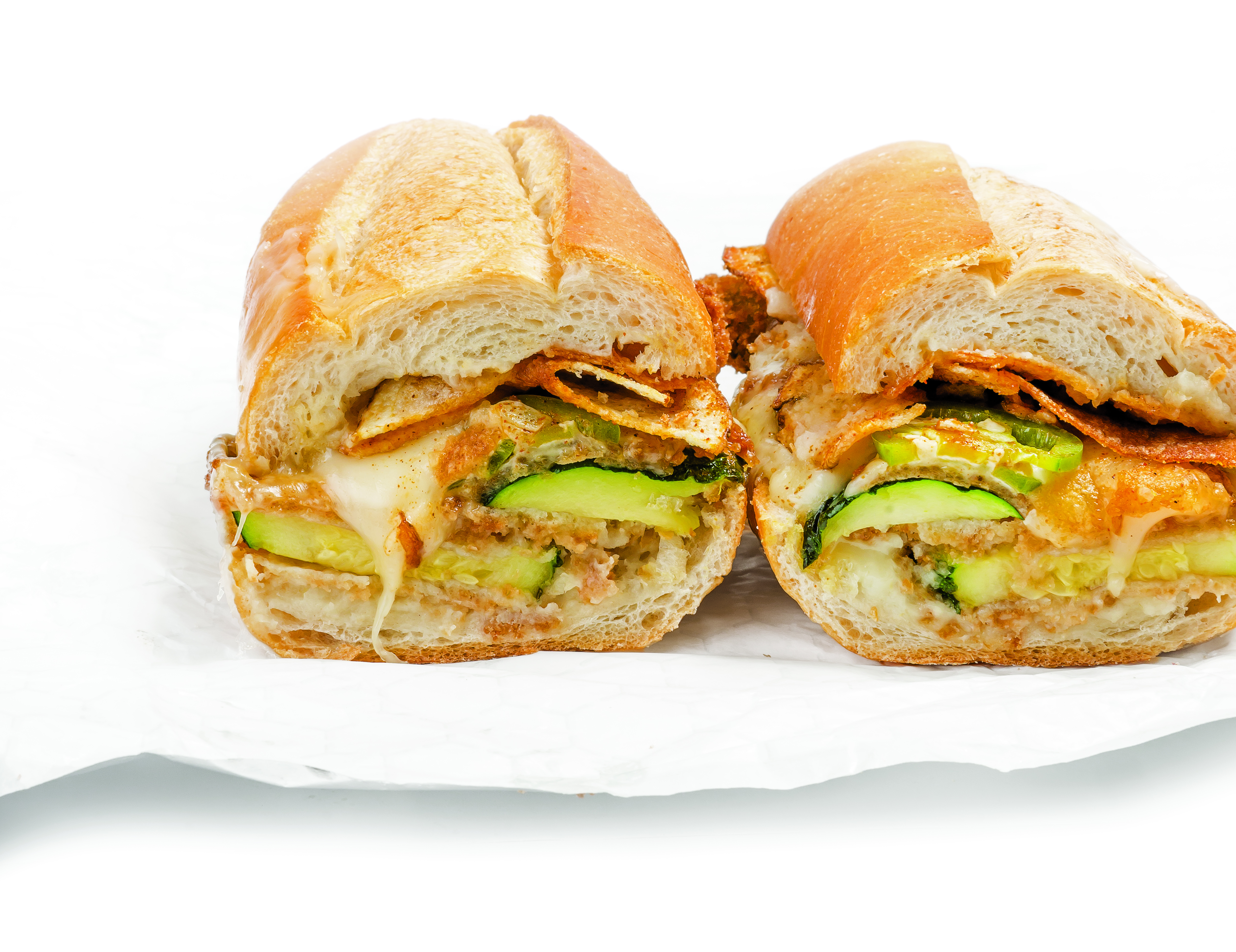 Recipe: A Spicy, Crispy, Cheesy Zucchini Parm Sandwich