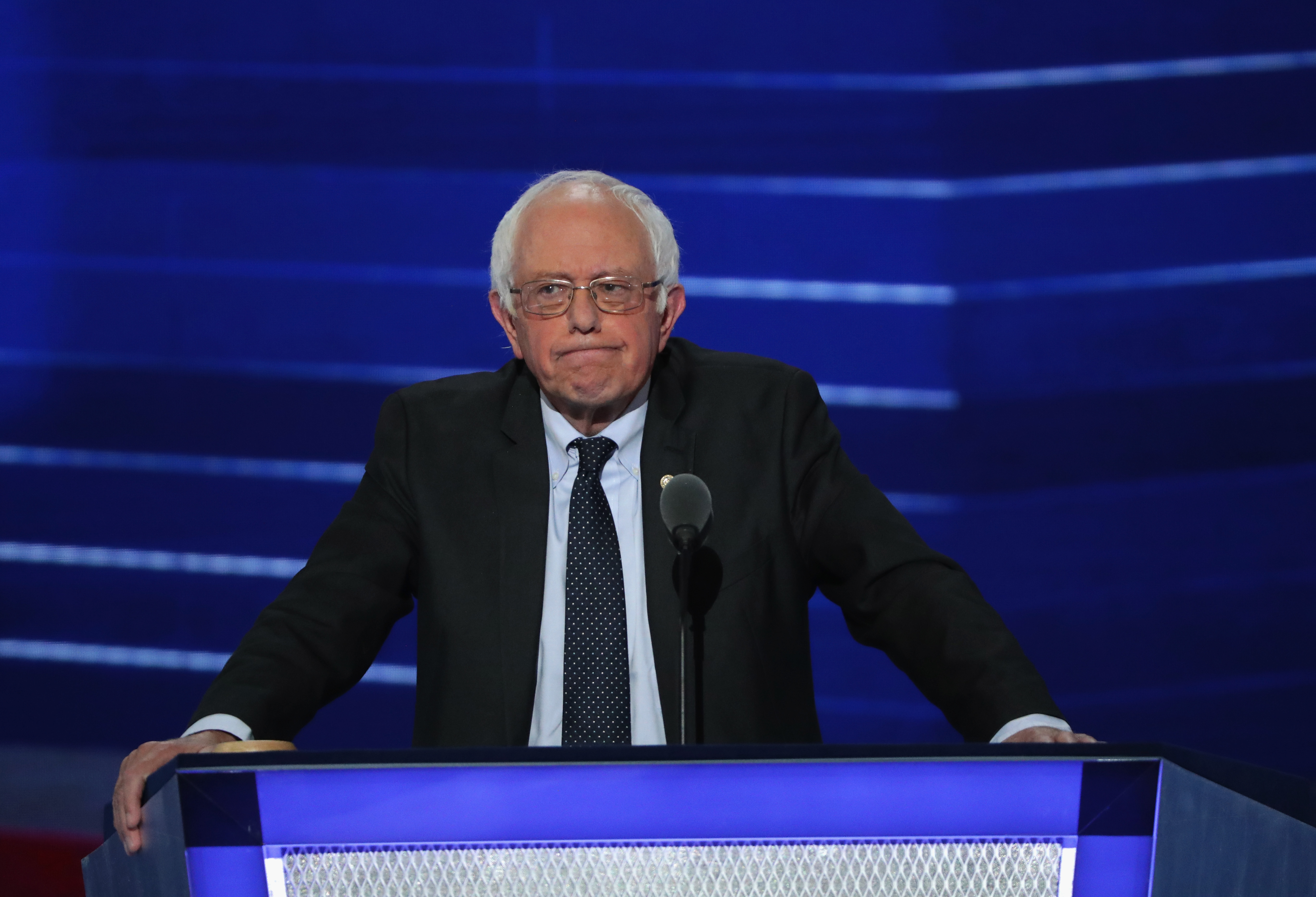 Bernie Sanders at the Democratic convention.