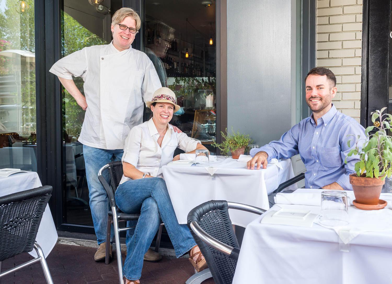 Rob Weland, Amy Garrett, and Sam Vause