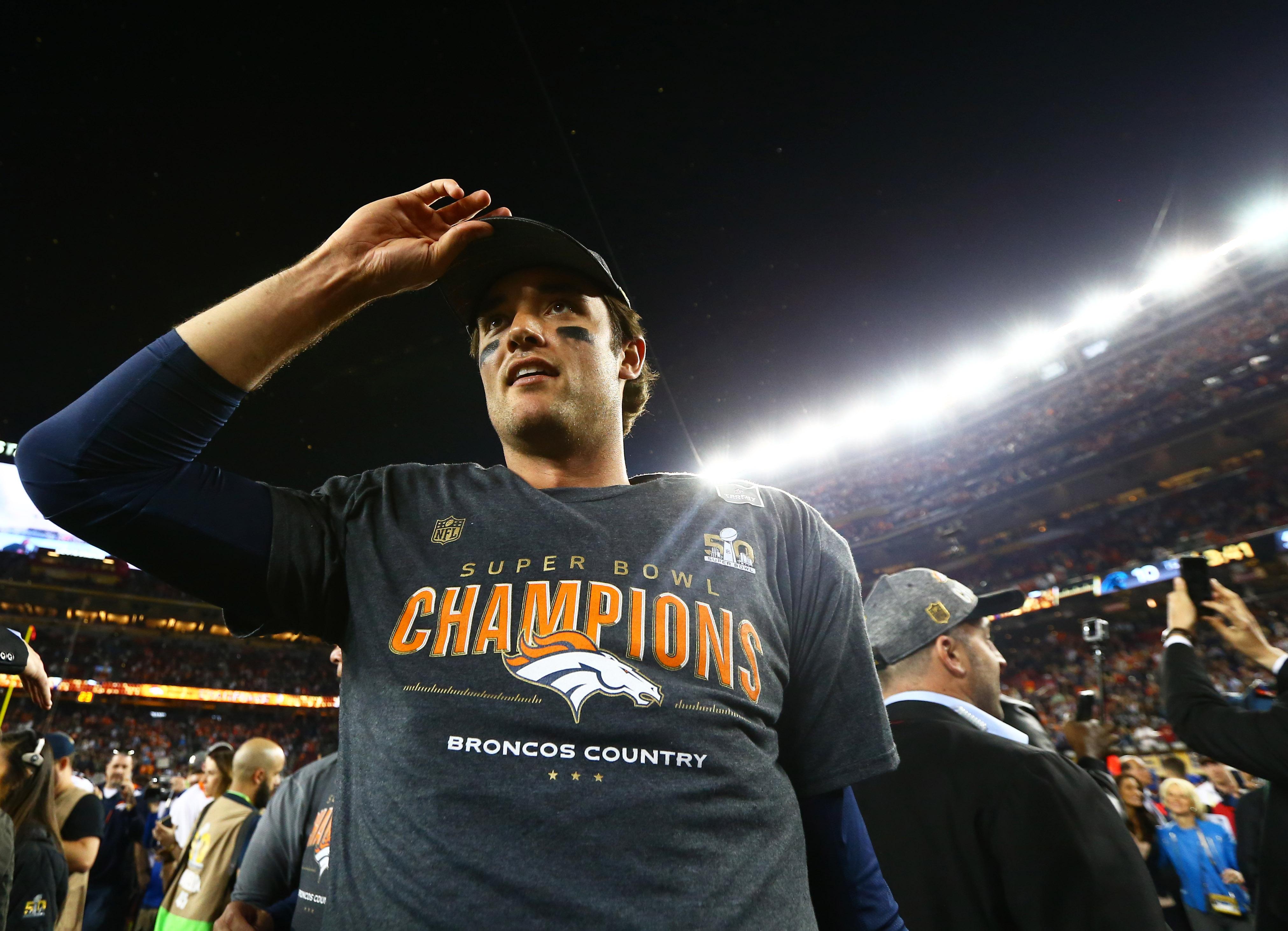 Brock Osweiler after the Broncos' Super Bowl victory