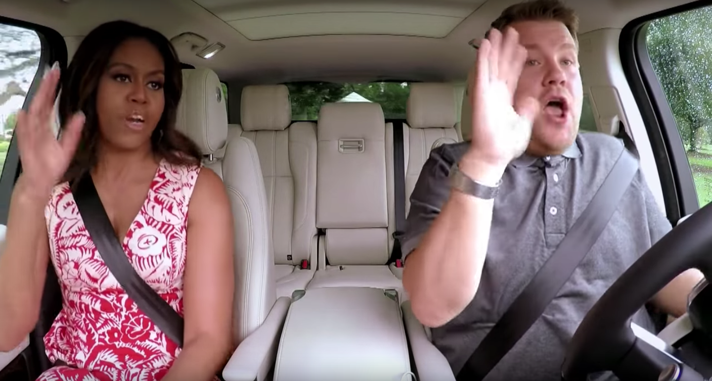 "Michelle Obama and James Corden on ""Carpool Karaoke"""