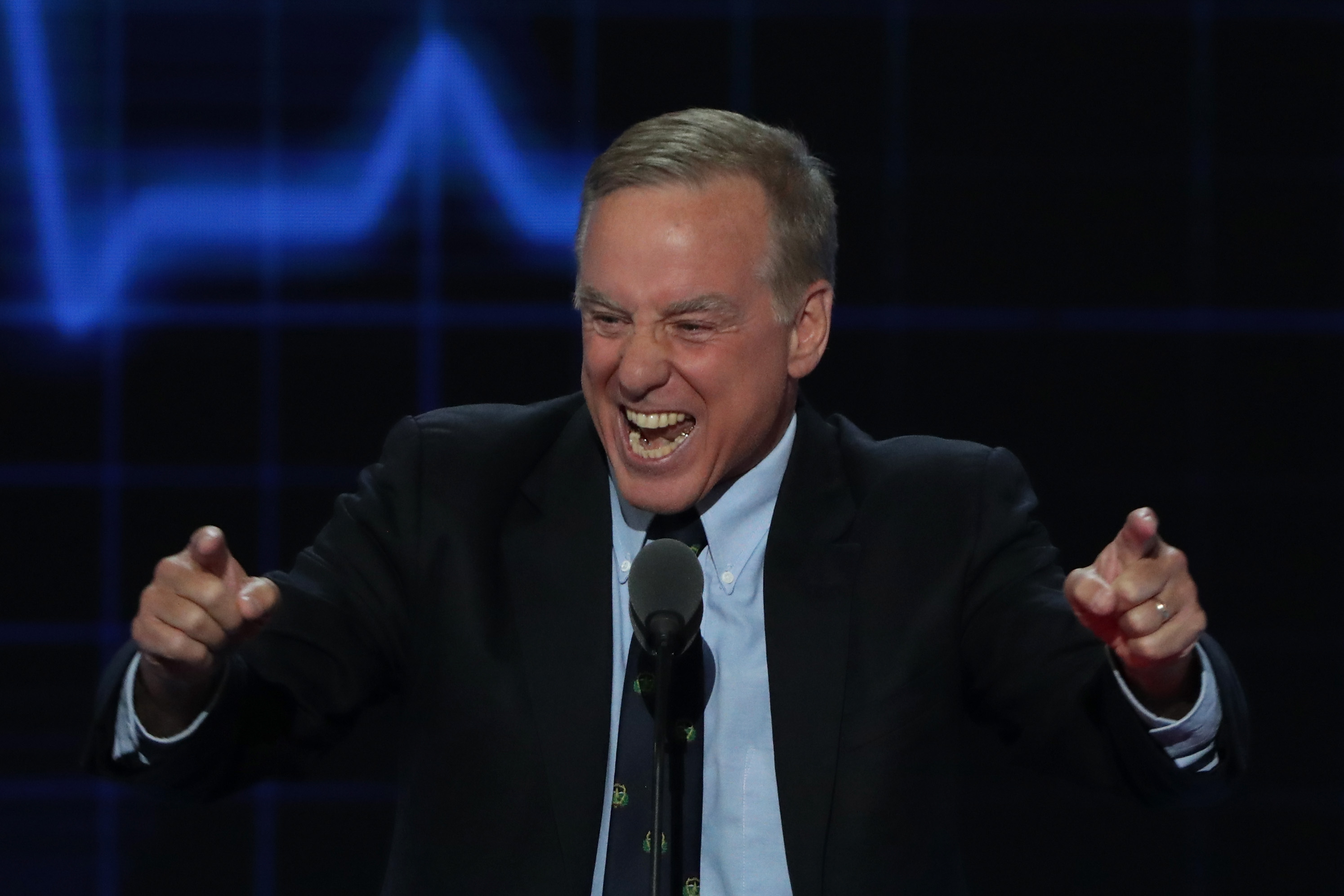 Howard Dean at the Democratic convention.