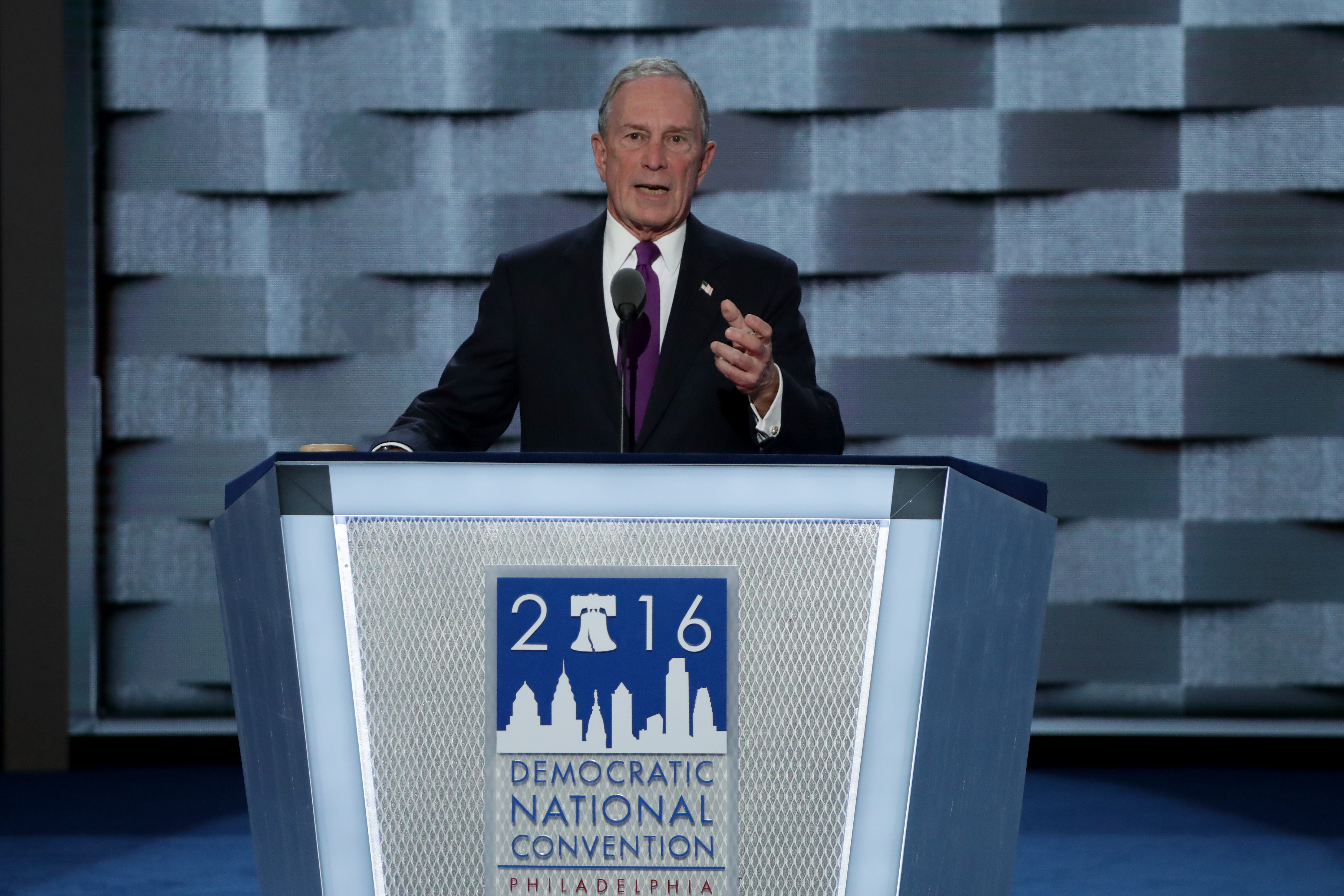 Michael Bloomberg at the Democratic convention.