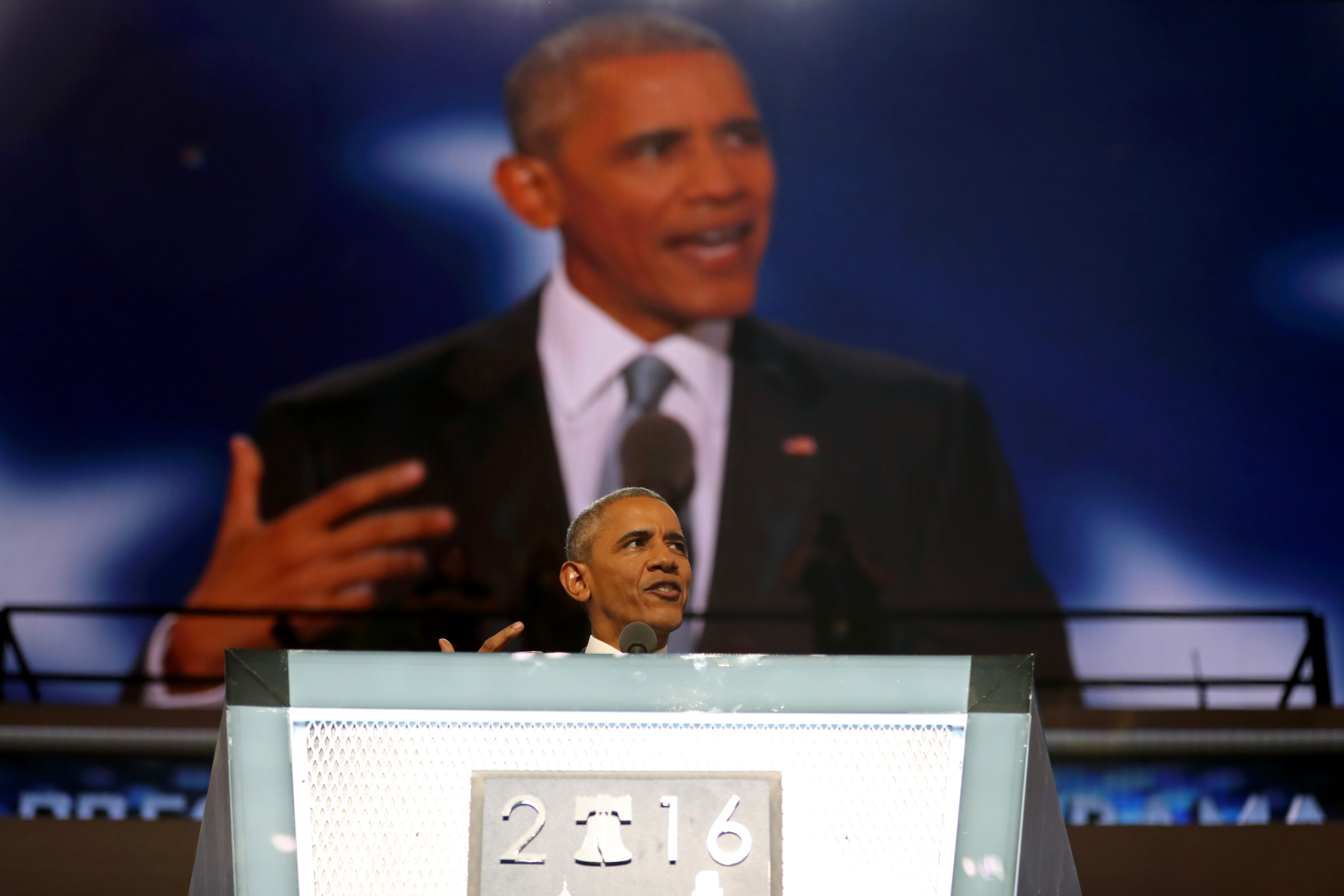 President Barack Obama at the 2016 Democratic National Convention.
