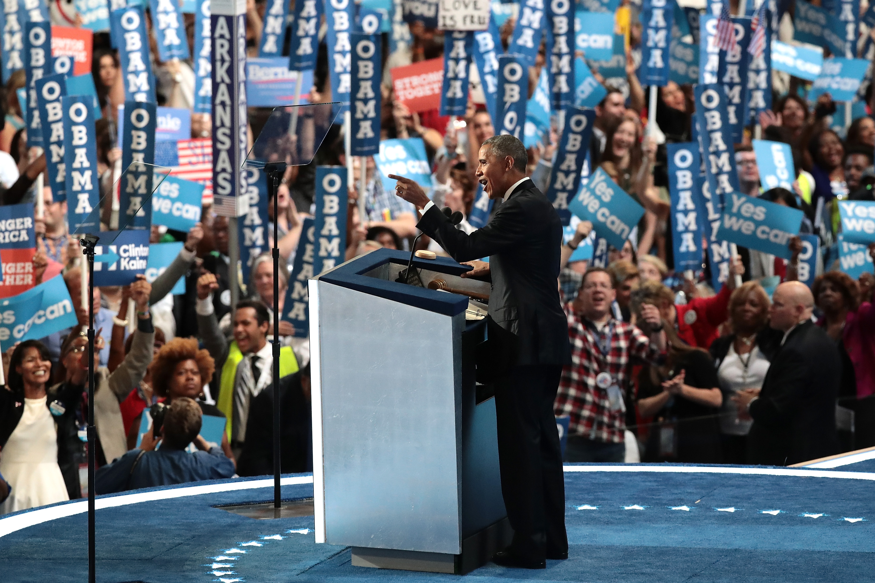 President Obama at the Democratic convention.