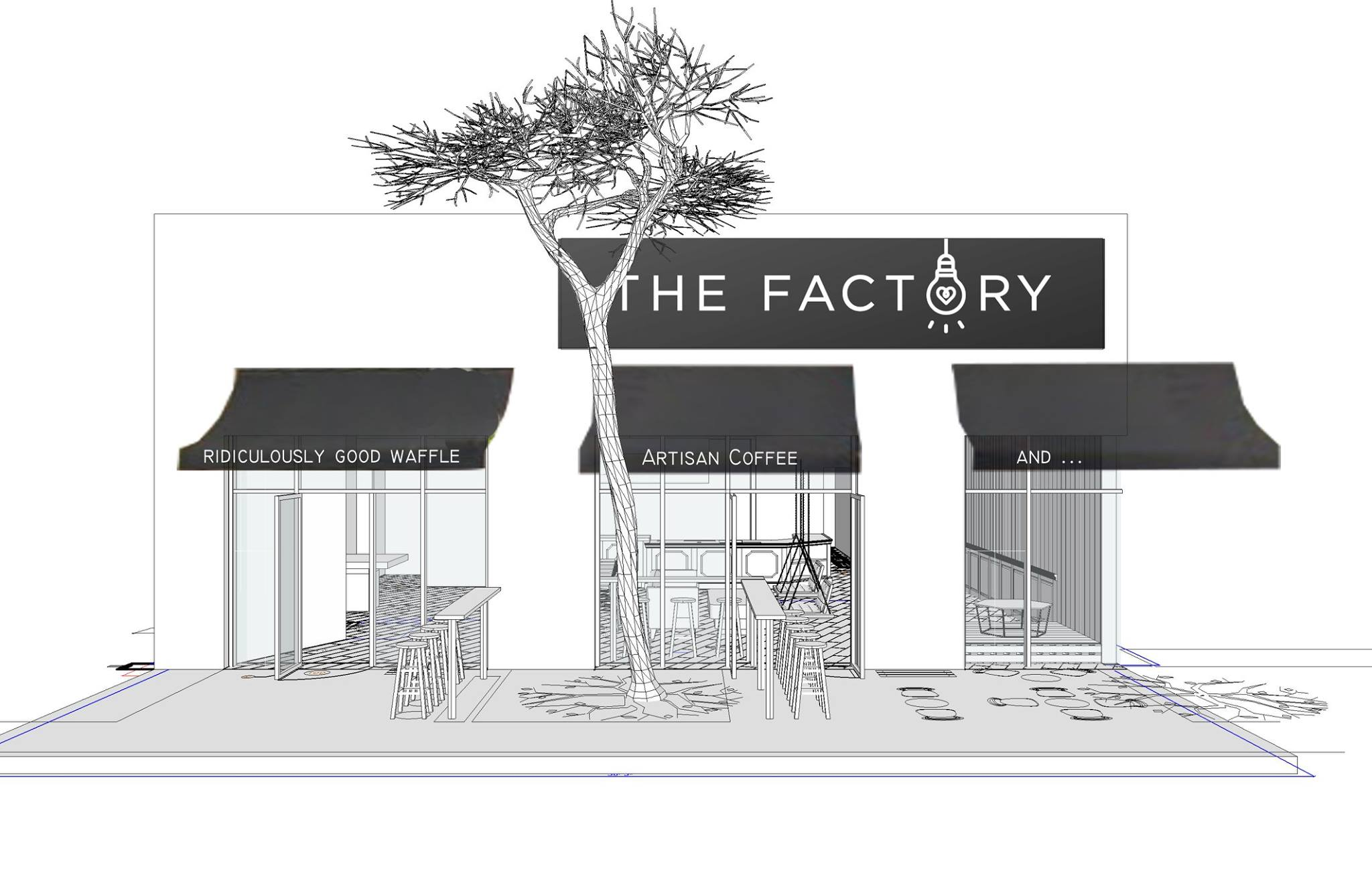 Coffee Waffle Bar The Factory Cafe Blasts Into Austin