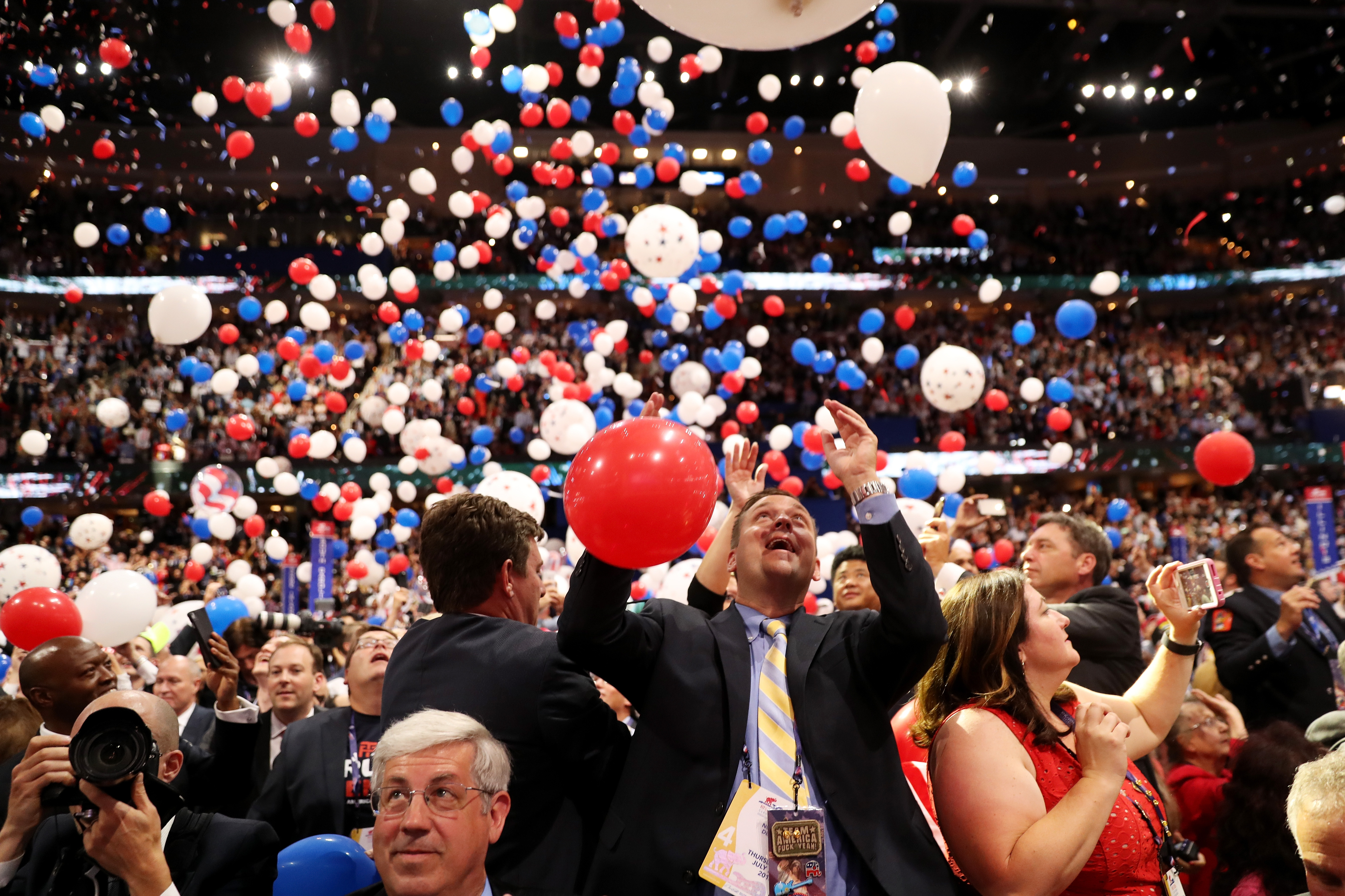 What do conventioneers do when the balloon party's over?