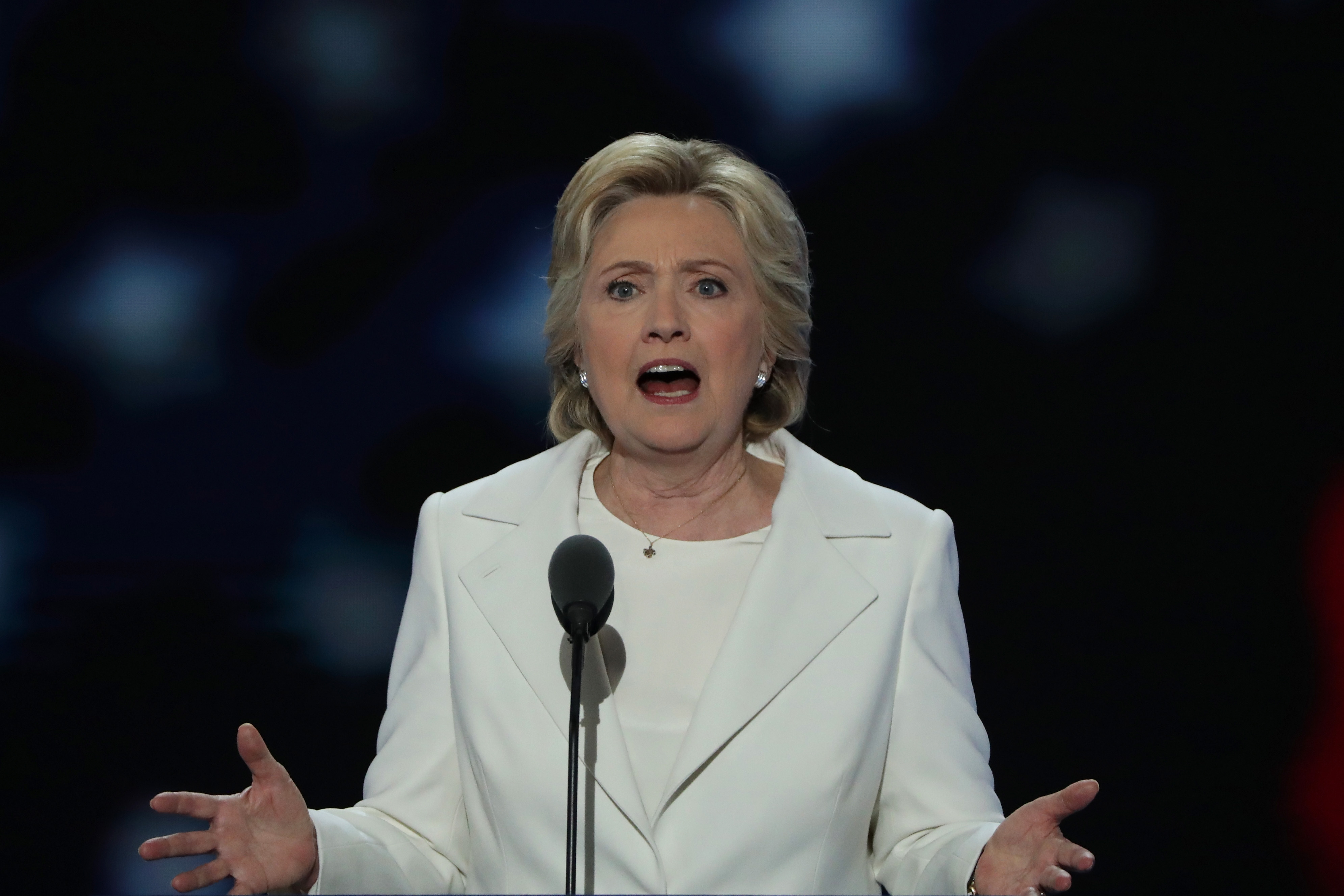 Hillary Clinton at the Democratic convention.