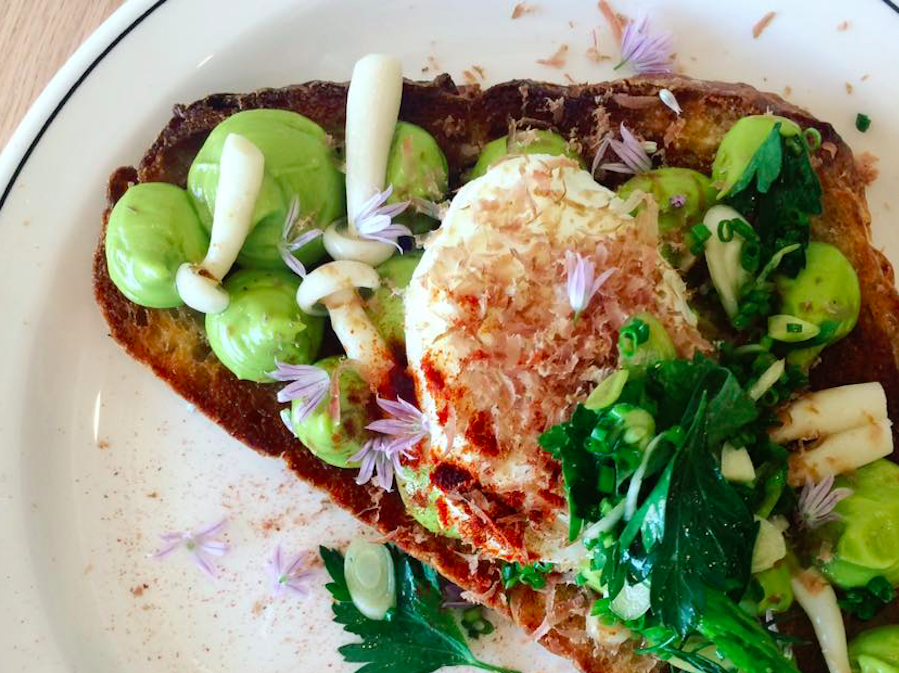 Butterblume's dressed-up avocado toast is extremely popular.