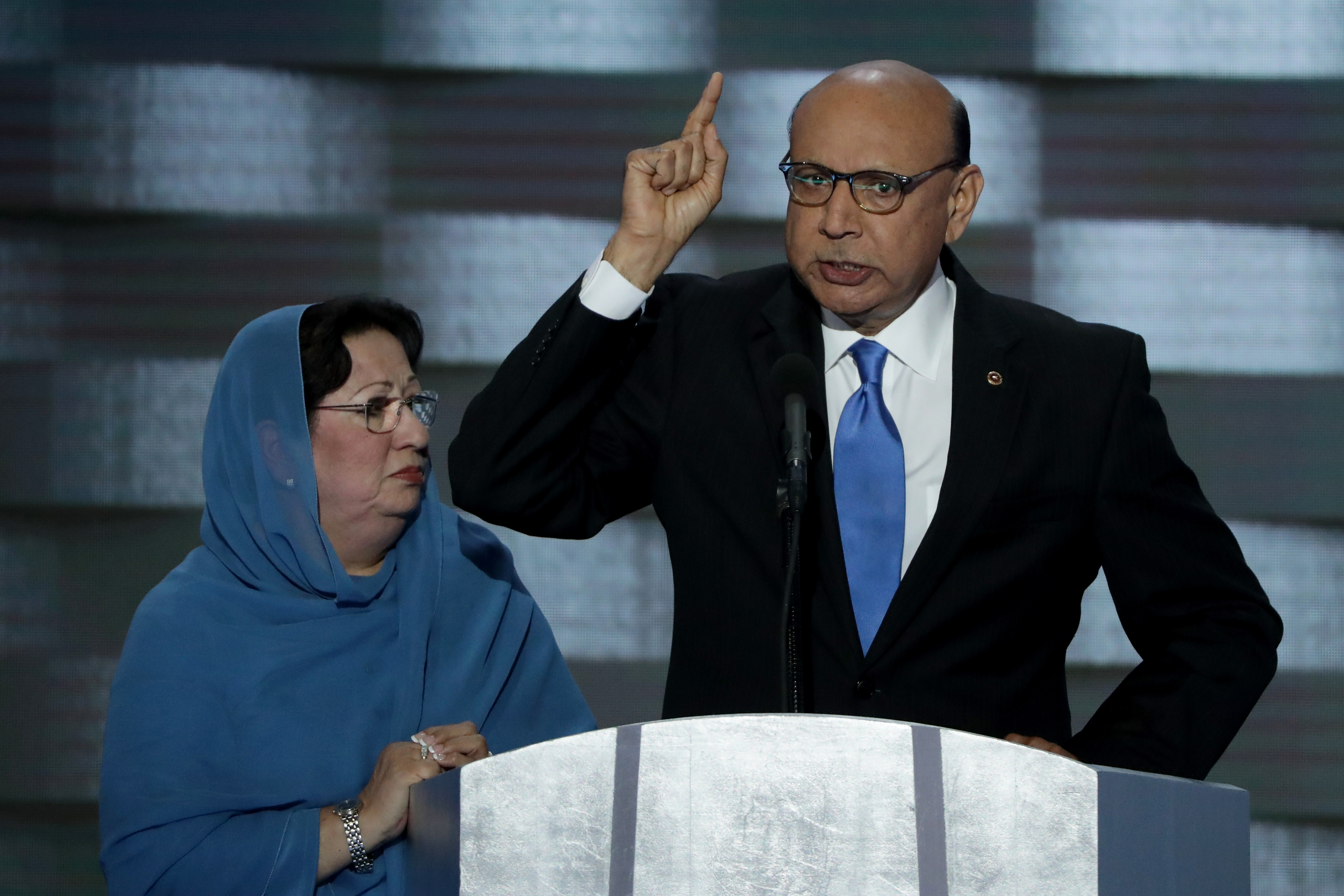 Khizr and Ghazala Khan at the Democratic National Convention.