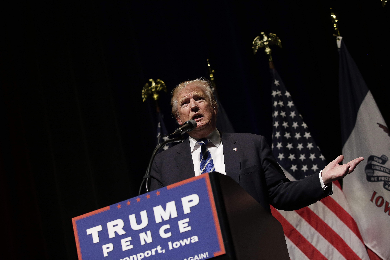 Donald Trump in Iowa.