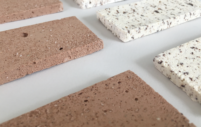 Bars of freeze-dried ice cream