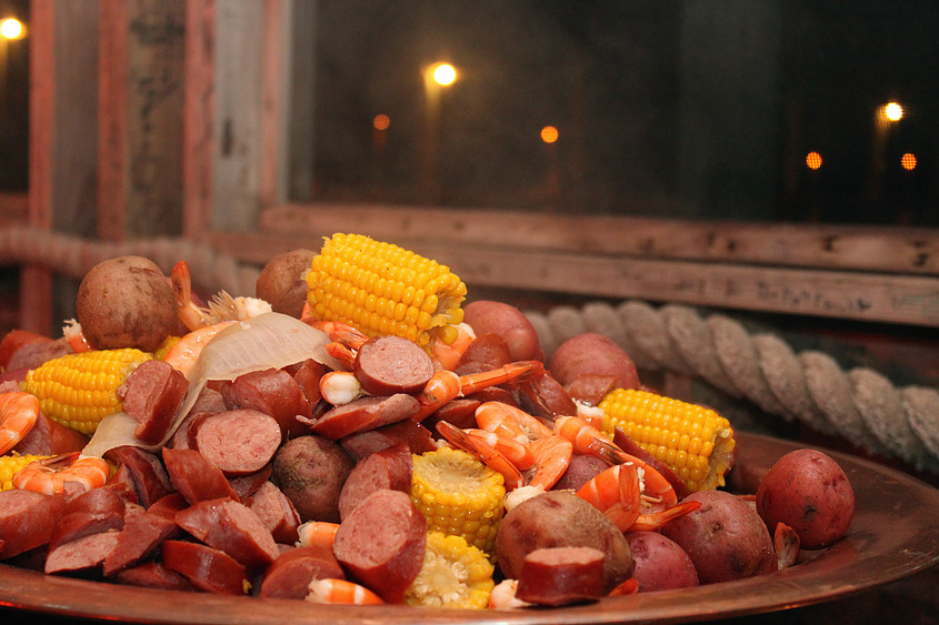 Lowcountry Boil — very classic Charleston