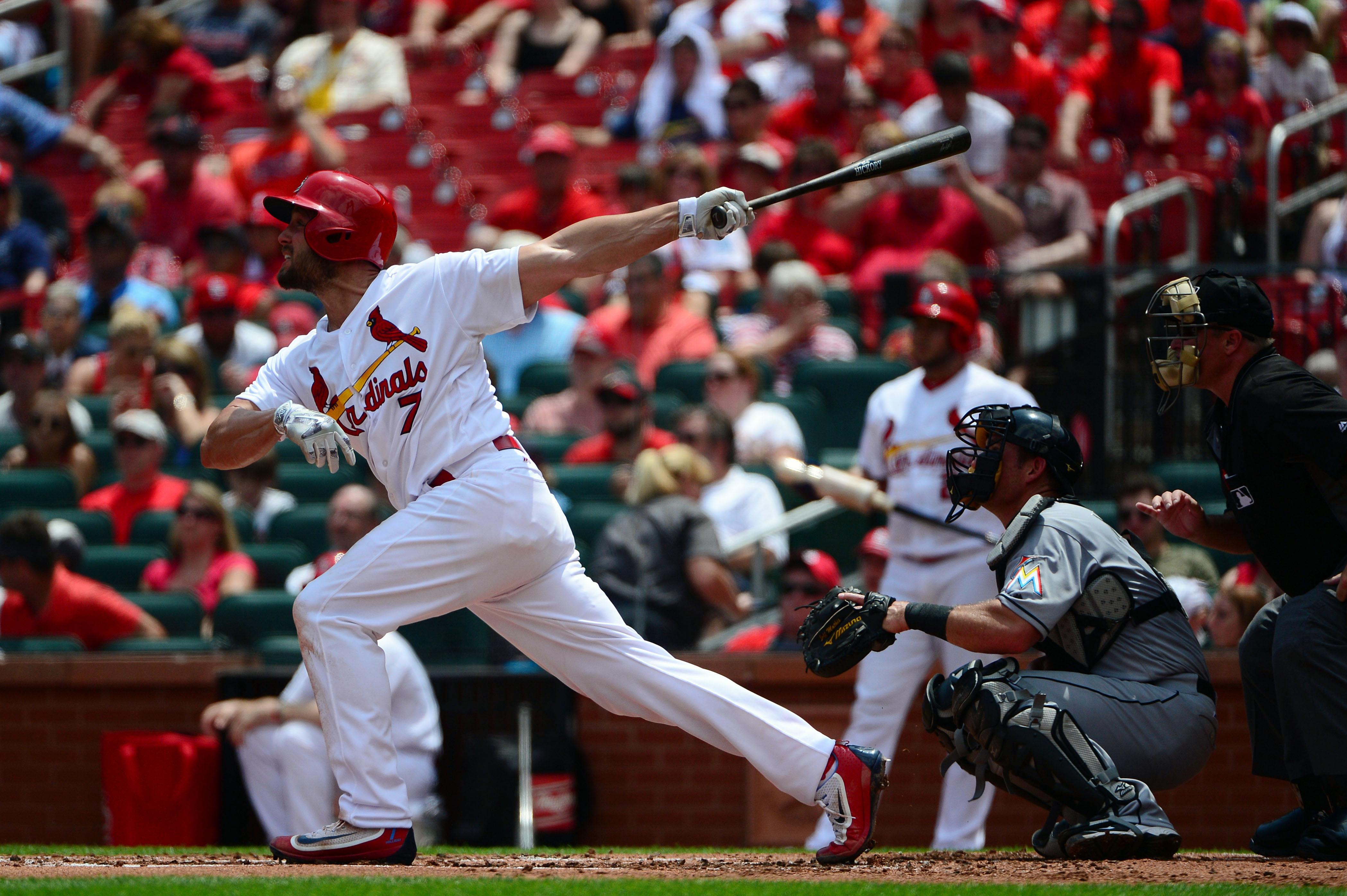 MLB:迈阿密Marlins在圣路易斯红雀州