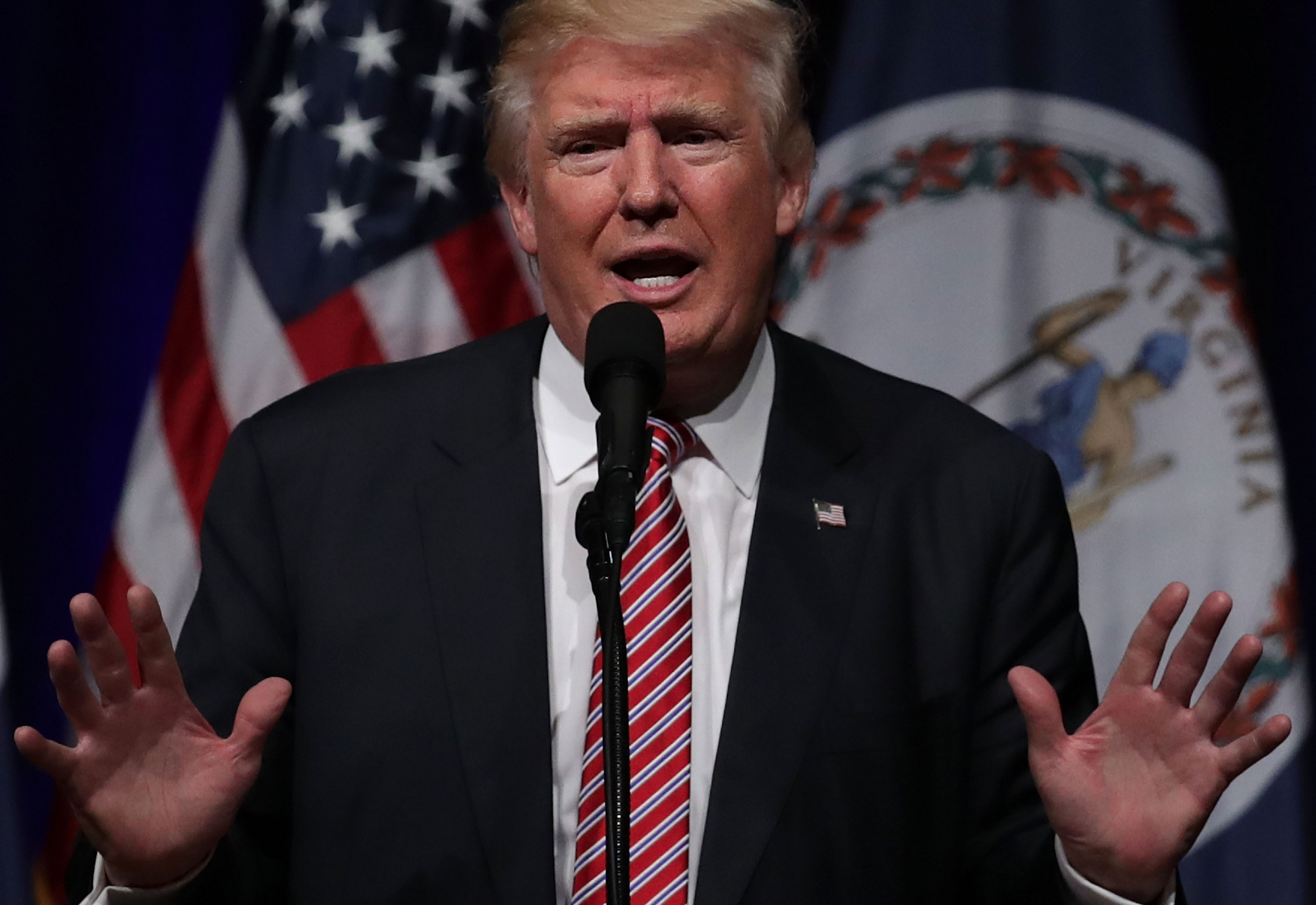Republican Presidential Candidate Donald Holds Rally In Ashburn, Virginia