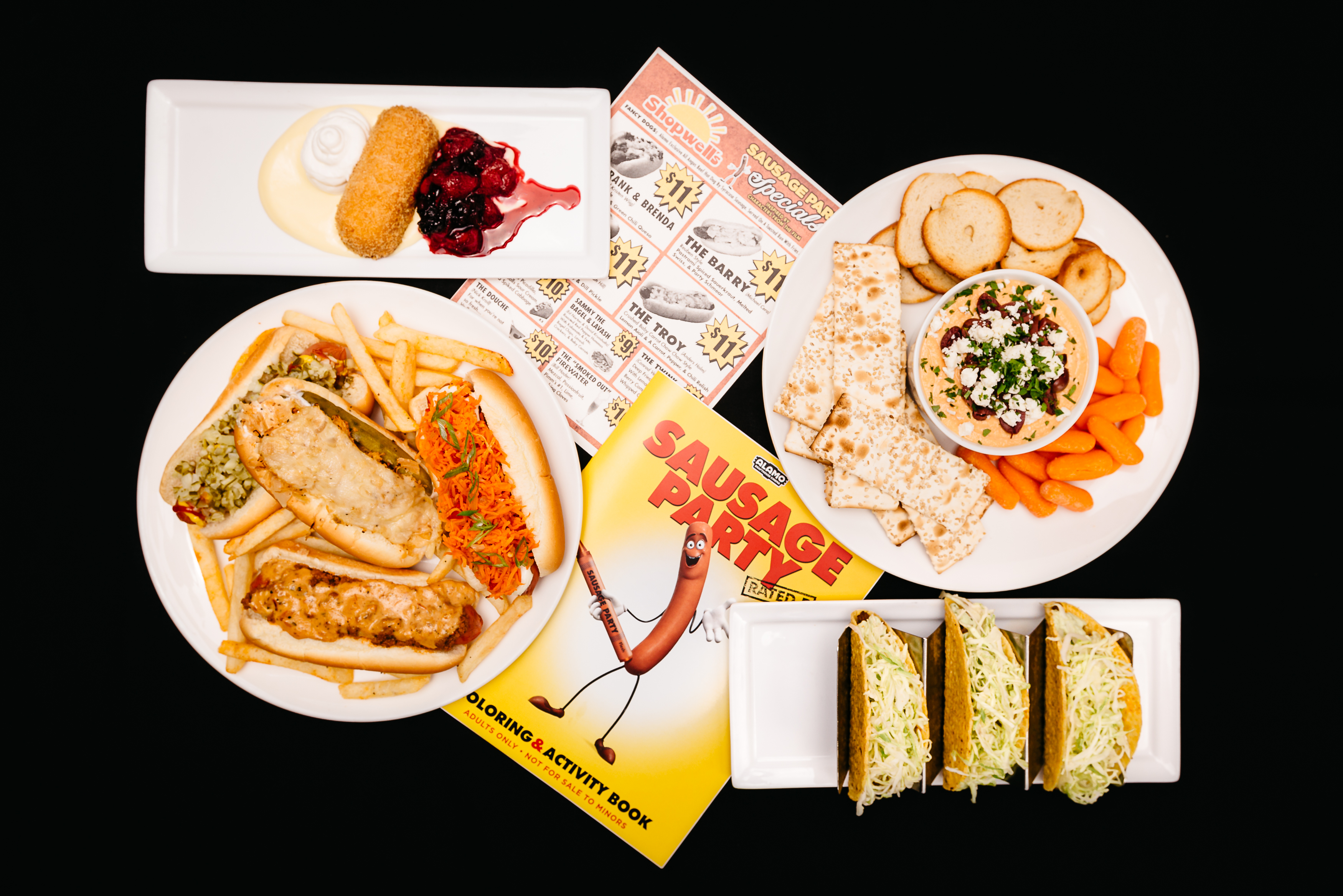 Alamo Drafthouse's Sausage Party dishes