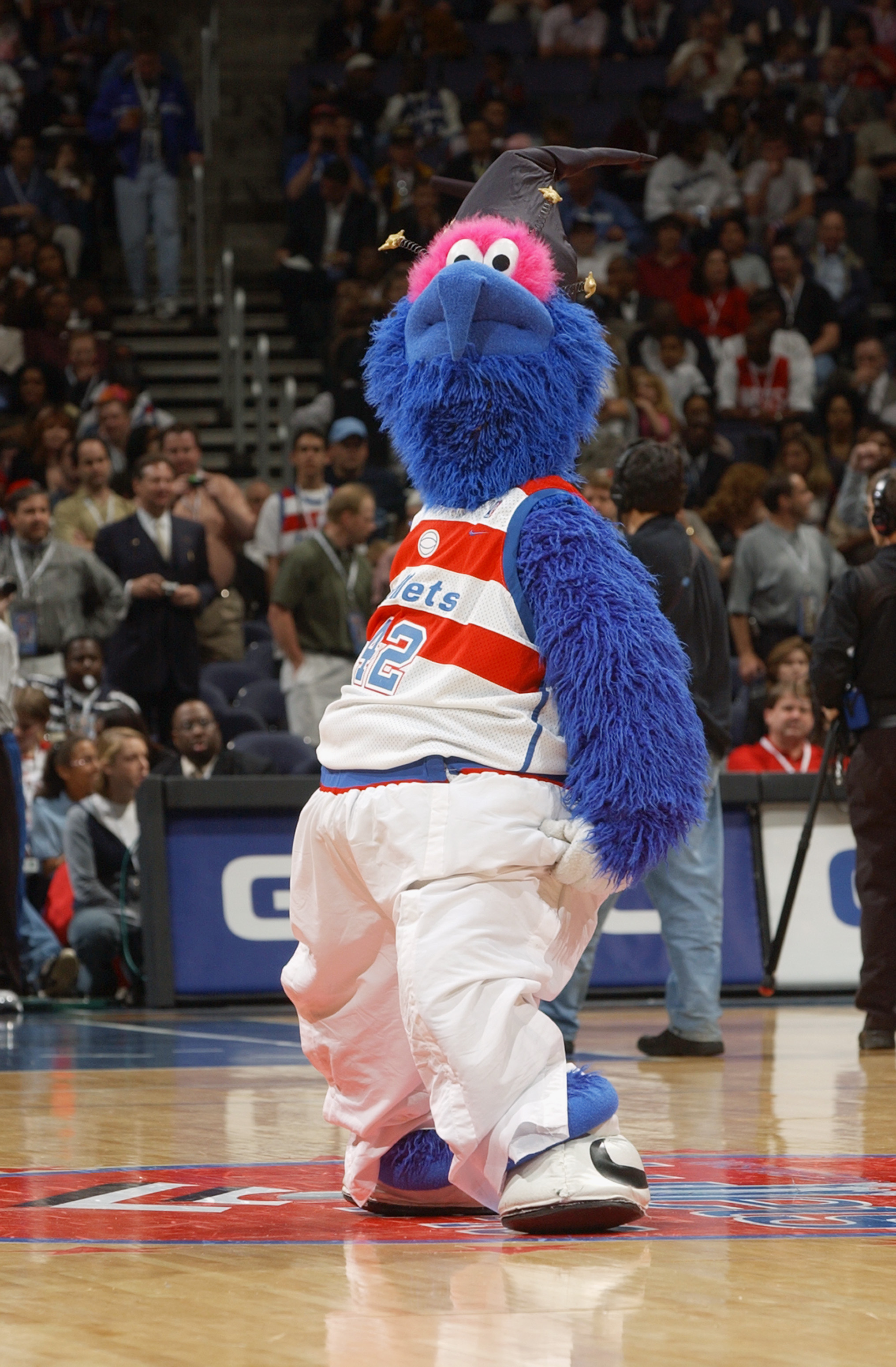 G-Wiz, the Wizards mascot entertains the fans