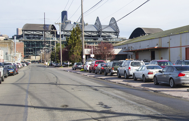 Occidental Street, where the arena is supposed to go