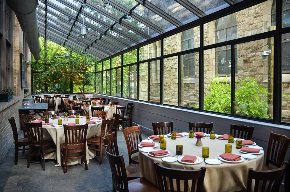 Osteria's patio