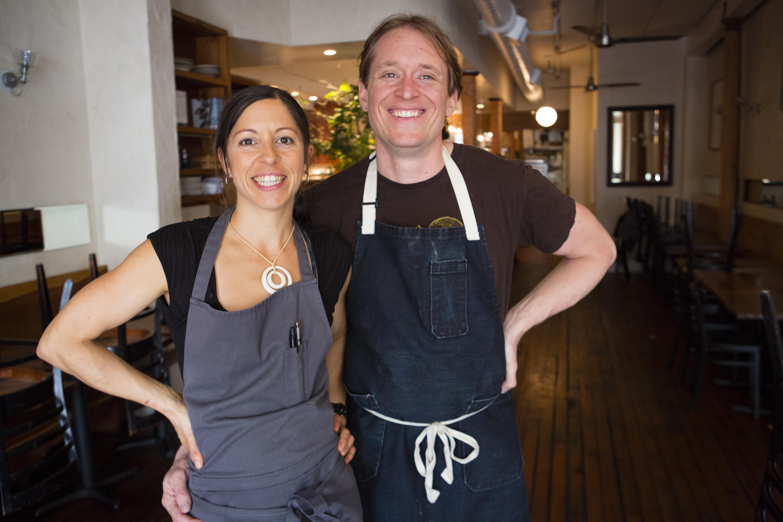 Cortney Burns and Nick Balla in Bar Tartine