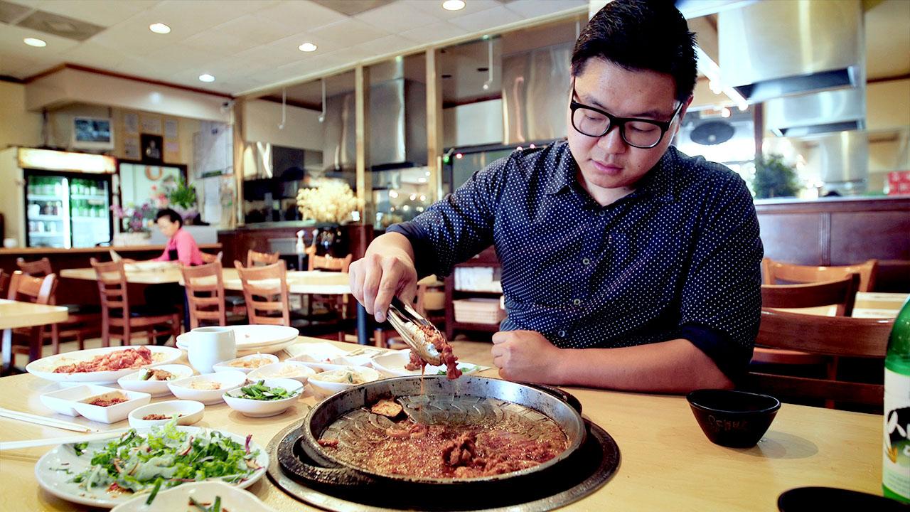 Duck barbecue at Sun Ha Jang in Koreatown