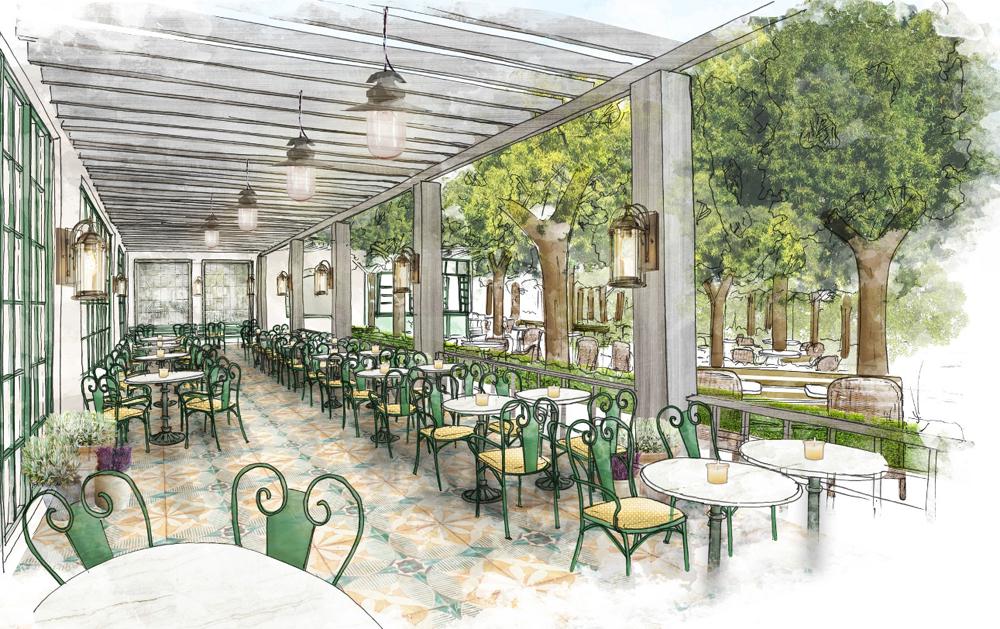 Park MGM restaurant terrace rendering