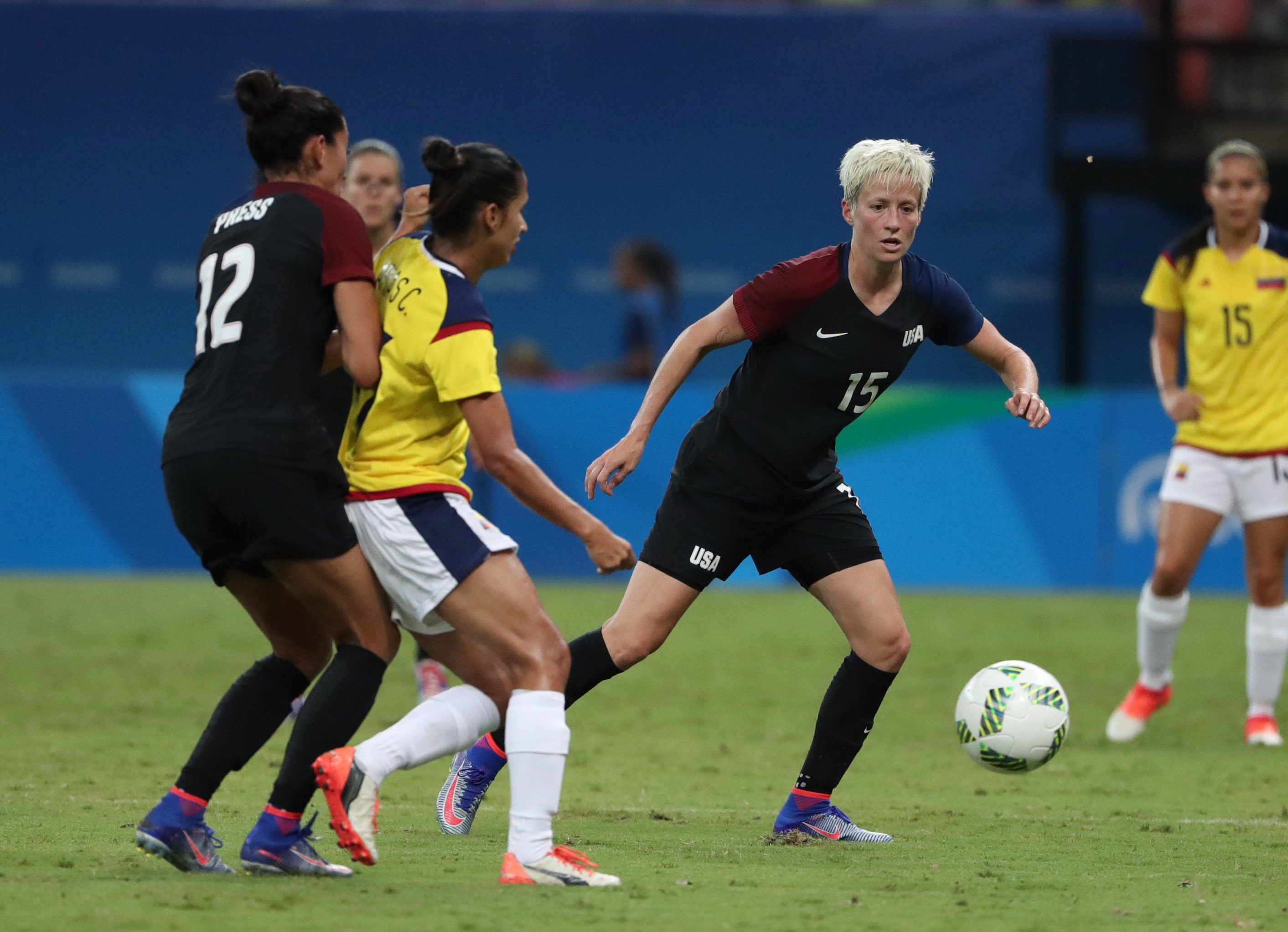 Olympics: Football-Women's Team-1st Round Group G-Colombia (COL) vs United States (USA)