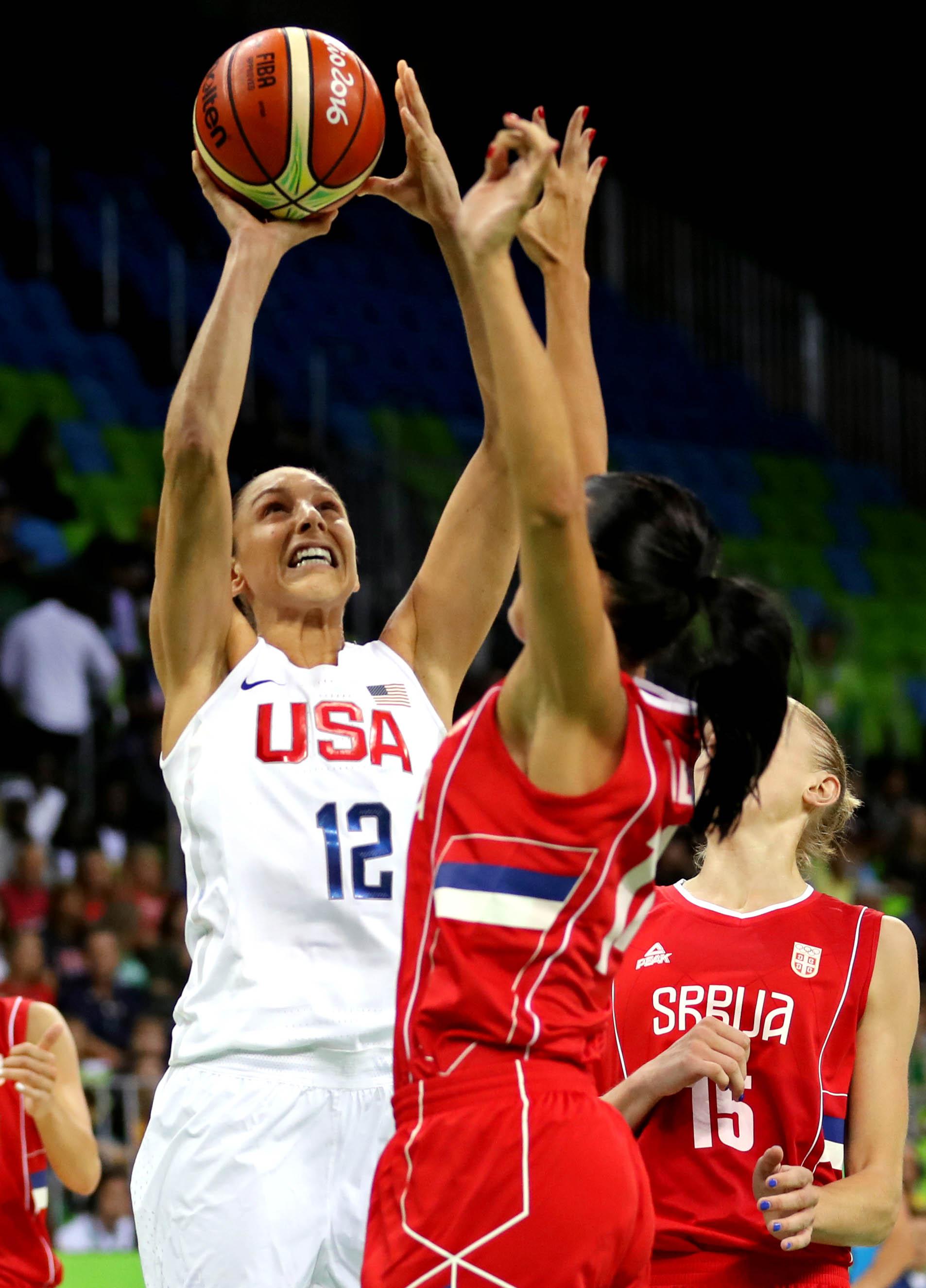 Olympics: Basketball-Women's Team-Preliminary Round Group B-USA vs SRB