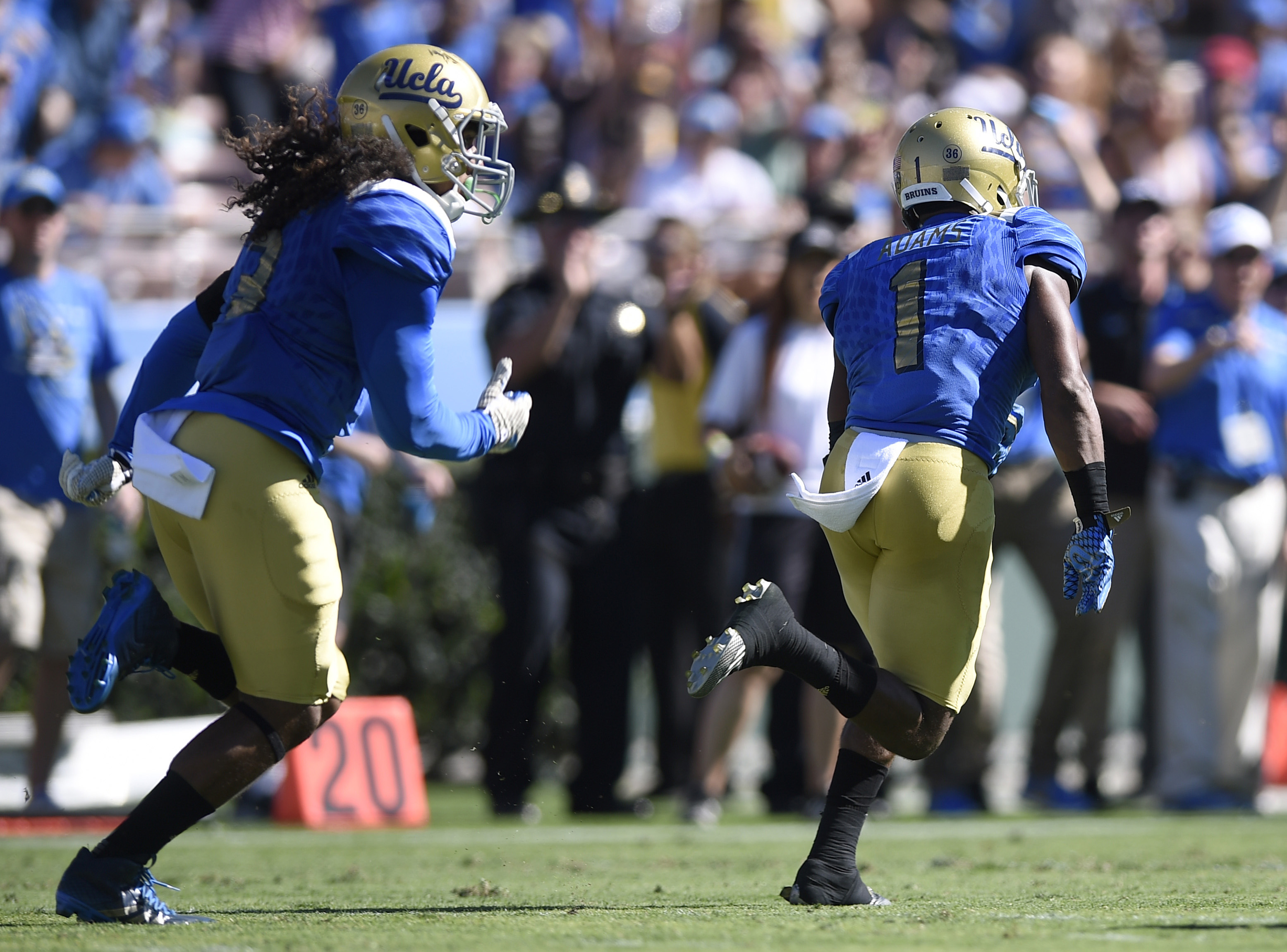 The transition from offense to defense appears to be going well for Ishmael Adams.