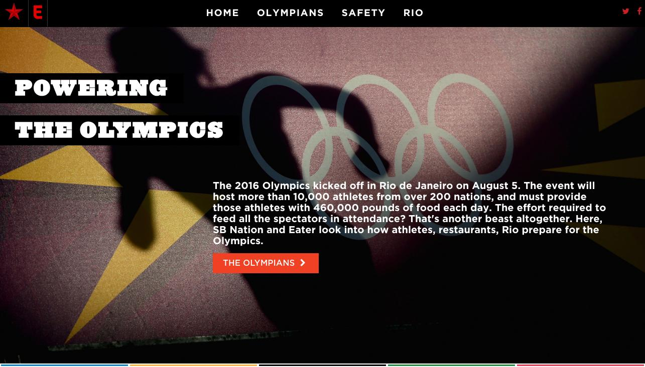 """The cover of the intern project, """"Powering The Olympics"""""""