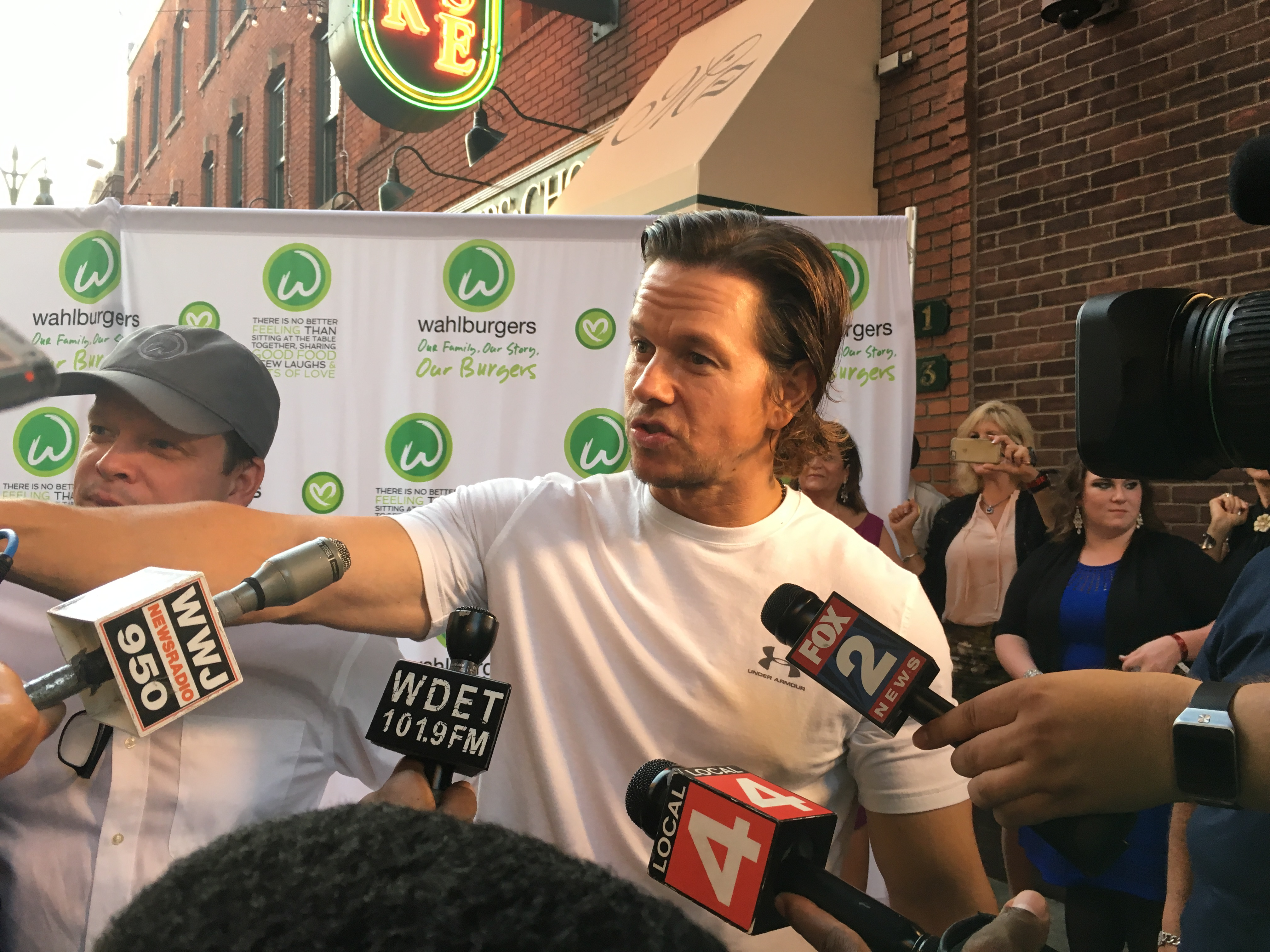 Mark Wahlberg next to chef Paul Wahlberg.
