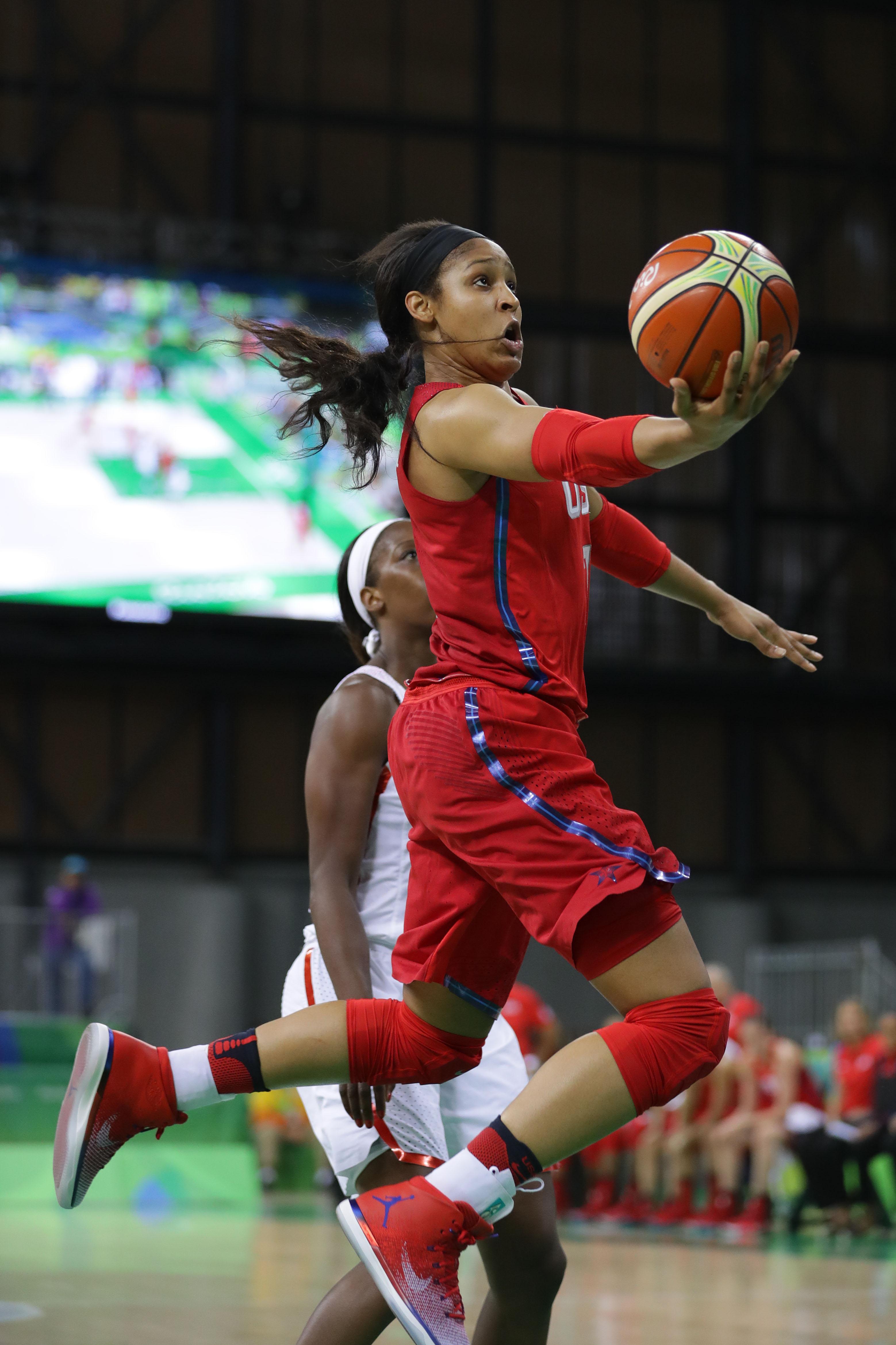 Olympics: Basketball-Women's Team-Preliminary Round CAN vs USA-Maya Moore