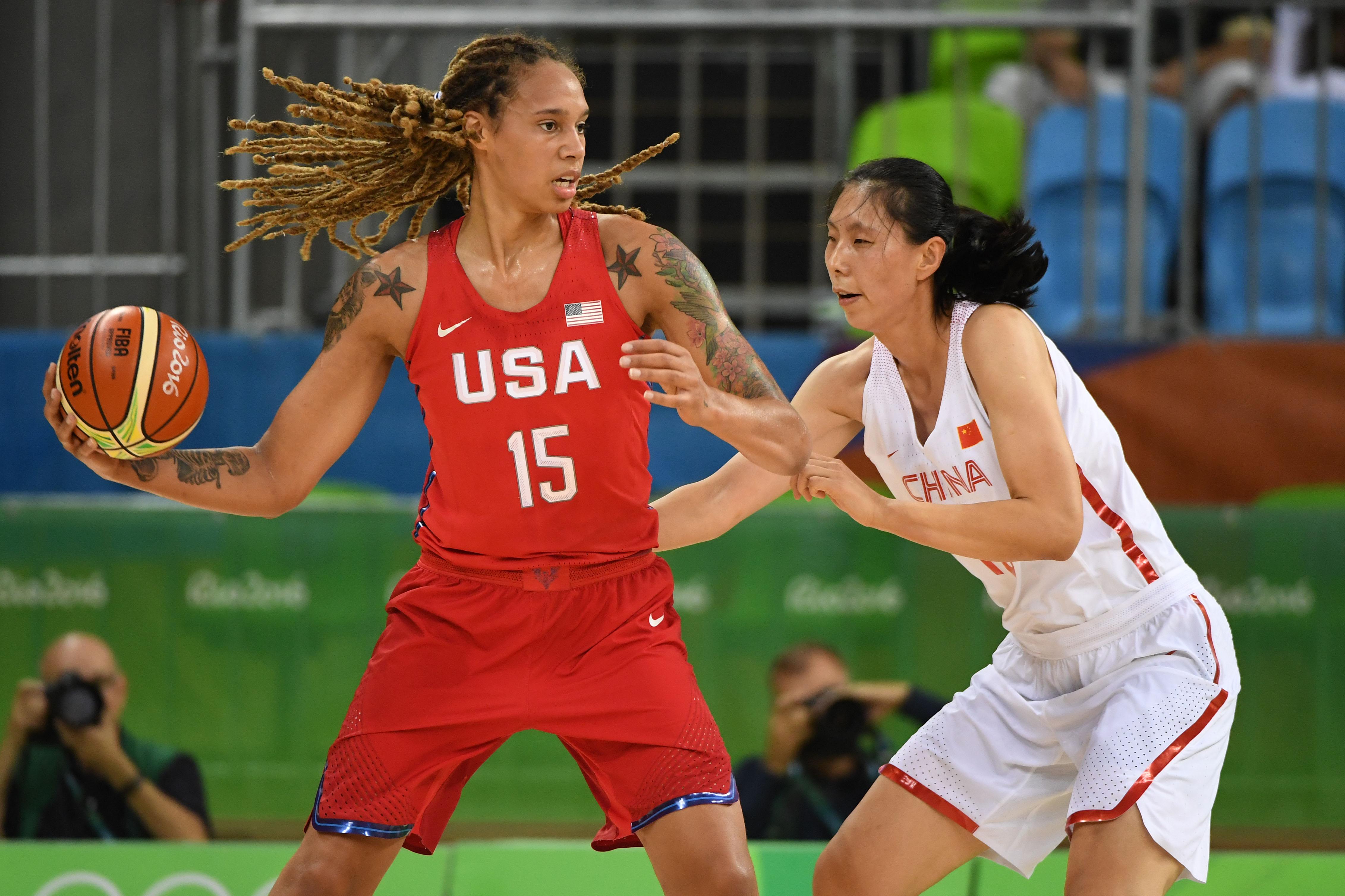 Olympics: Basketball-Women's Team-Preliminary Round CHN vs USA