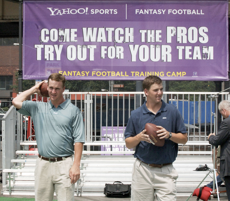 Peyton Manning and Eli Manning something something fantasy football