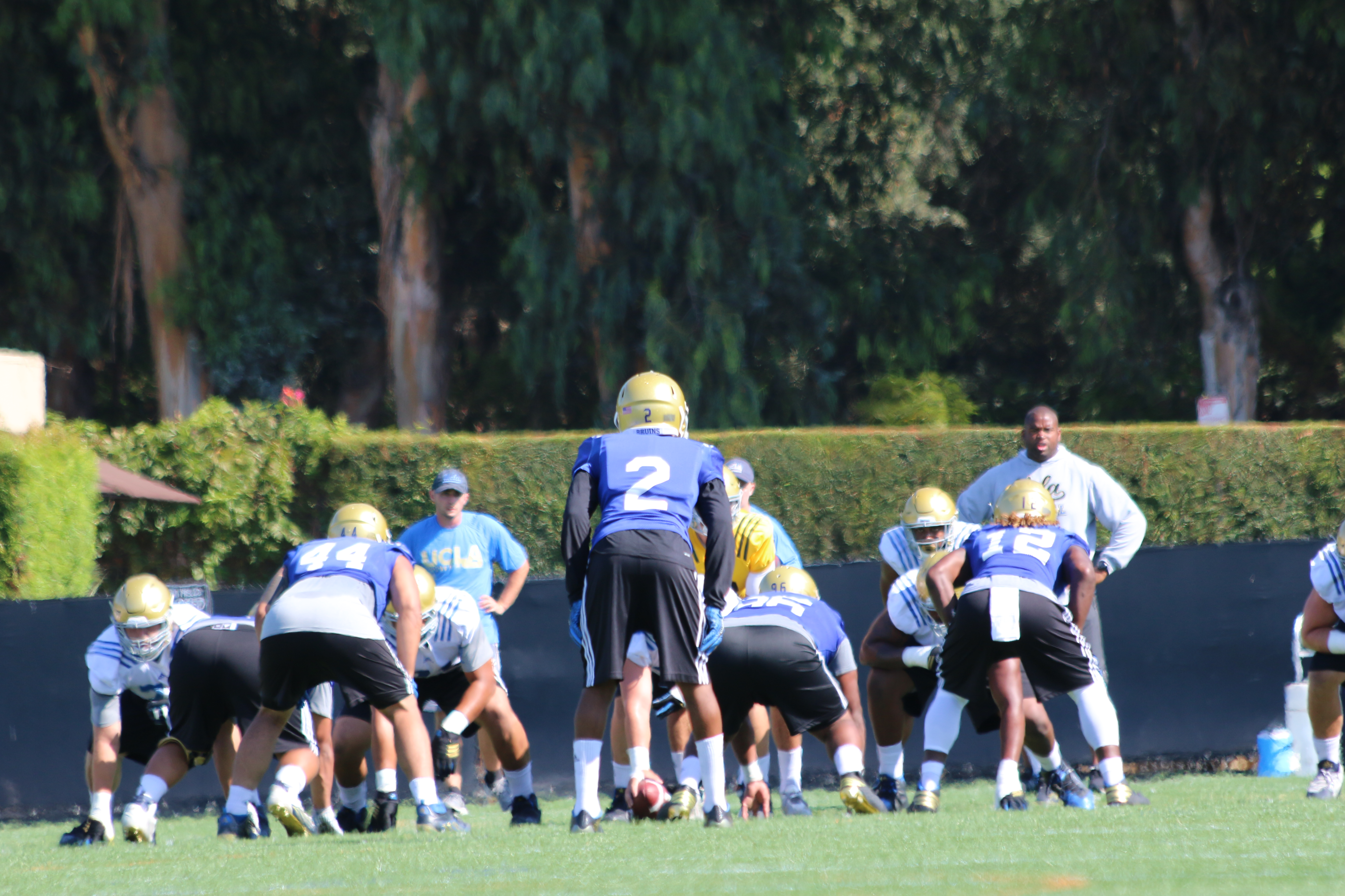 Jaleel Wadood and the DBs had a good afternoon practice yesterday.