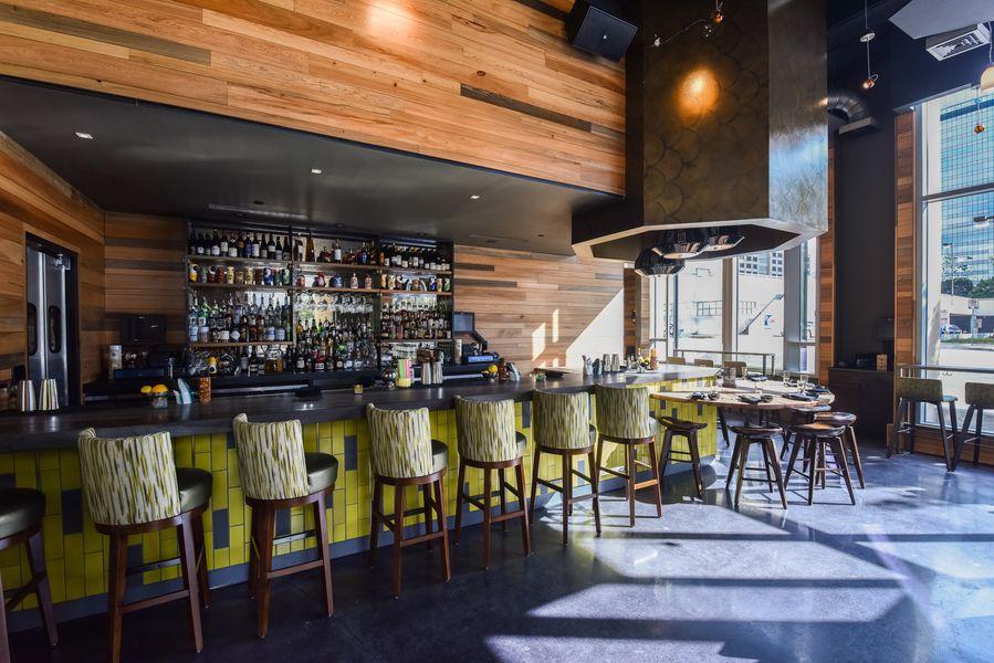 Wu Chow's bar and lounge area