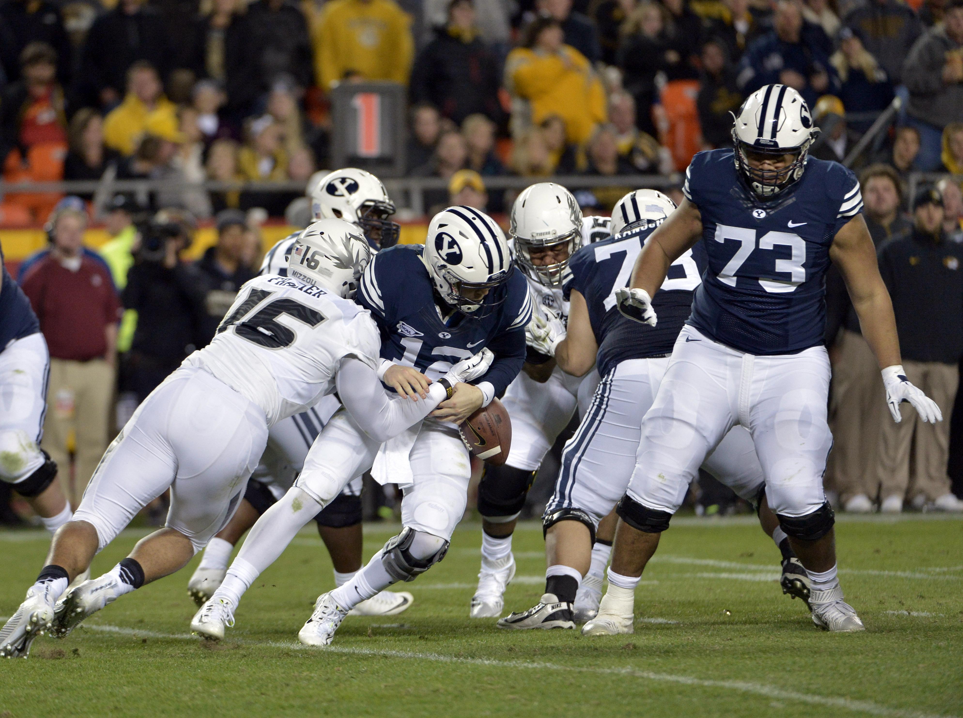 NCAA Football: Brigham Young at Missouri