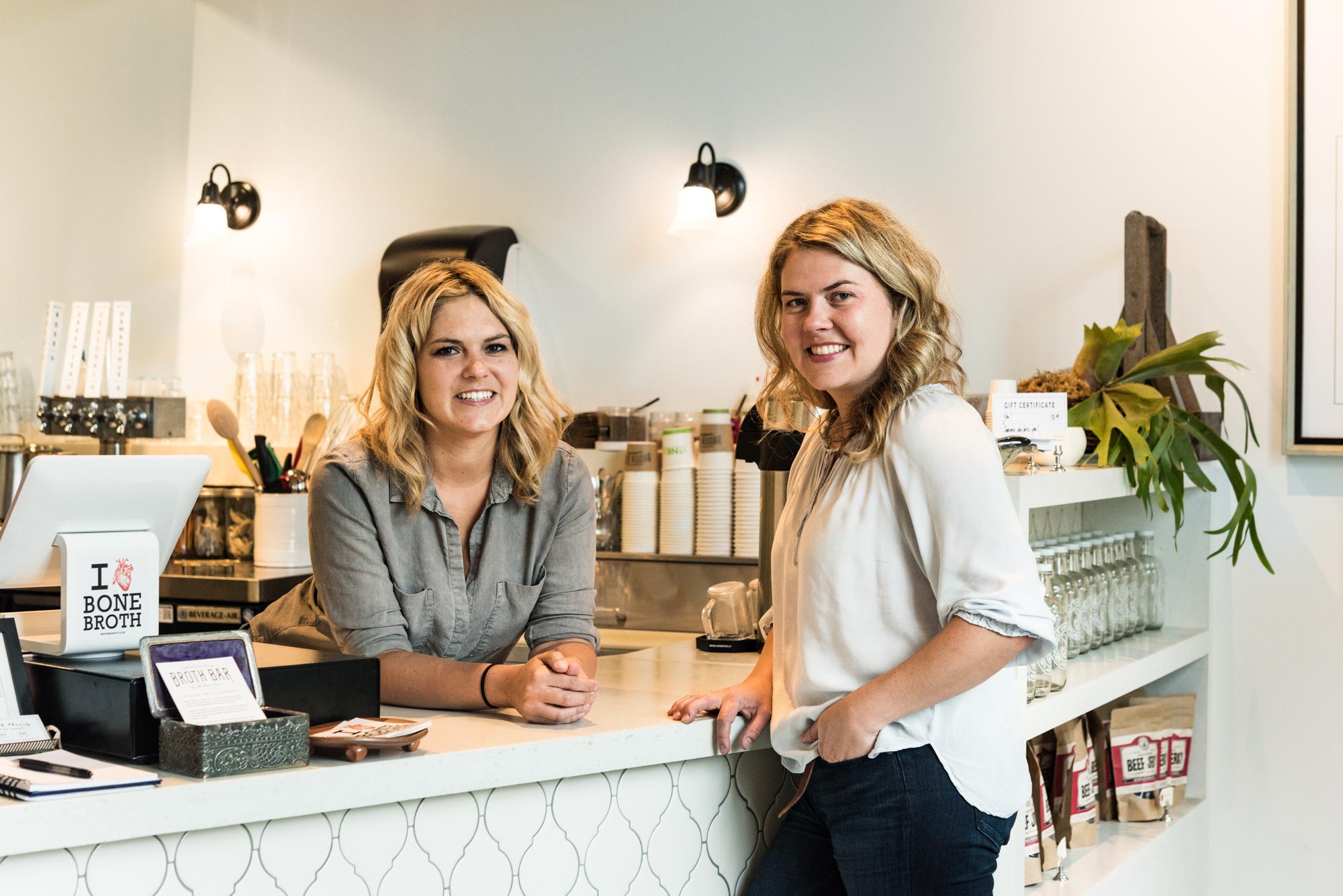 Broth Bar's Katie (left) and Tressa Yellig