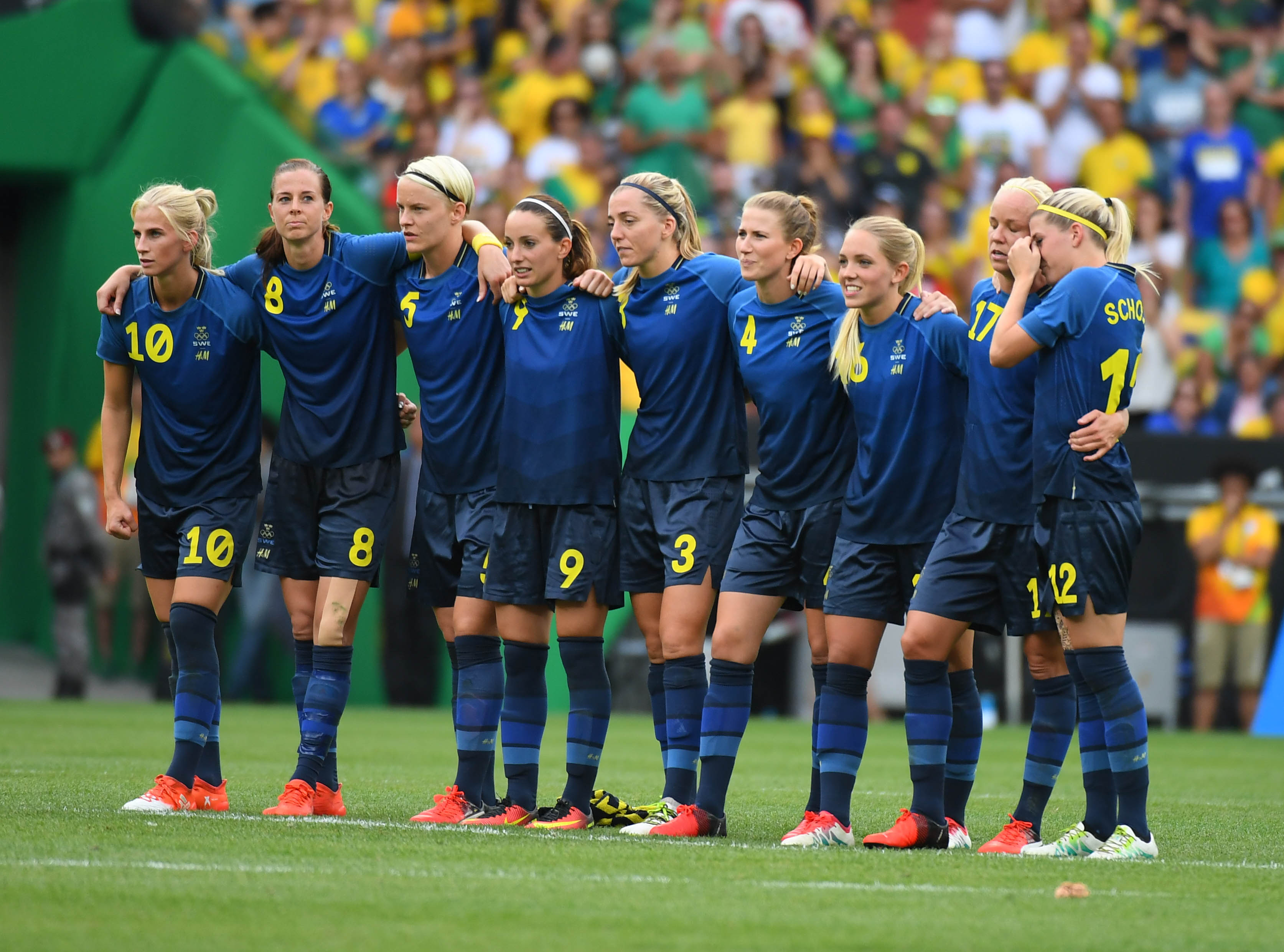 Sweden, in their preferred PK formation.
