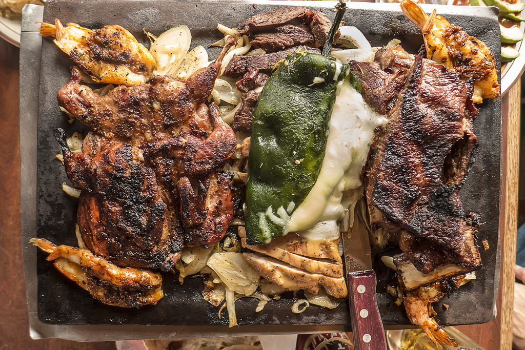 A fajita platter fit for a king at Teotihuacan Mexican Cafe