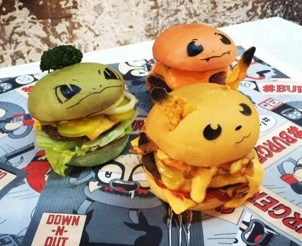 Pokemon burgers