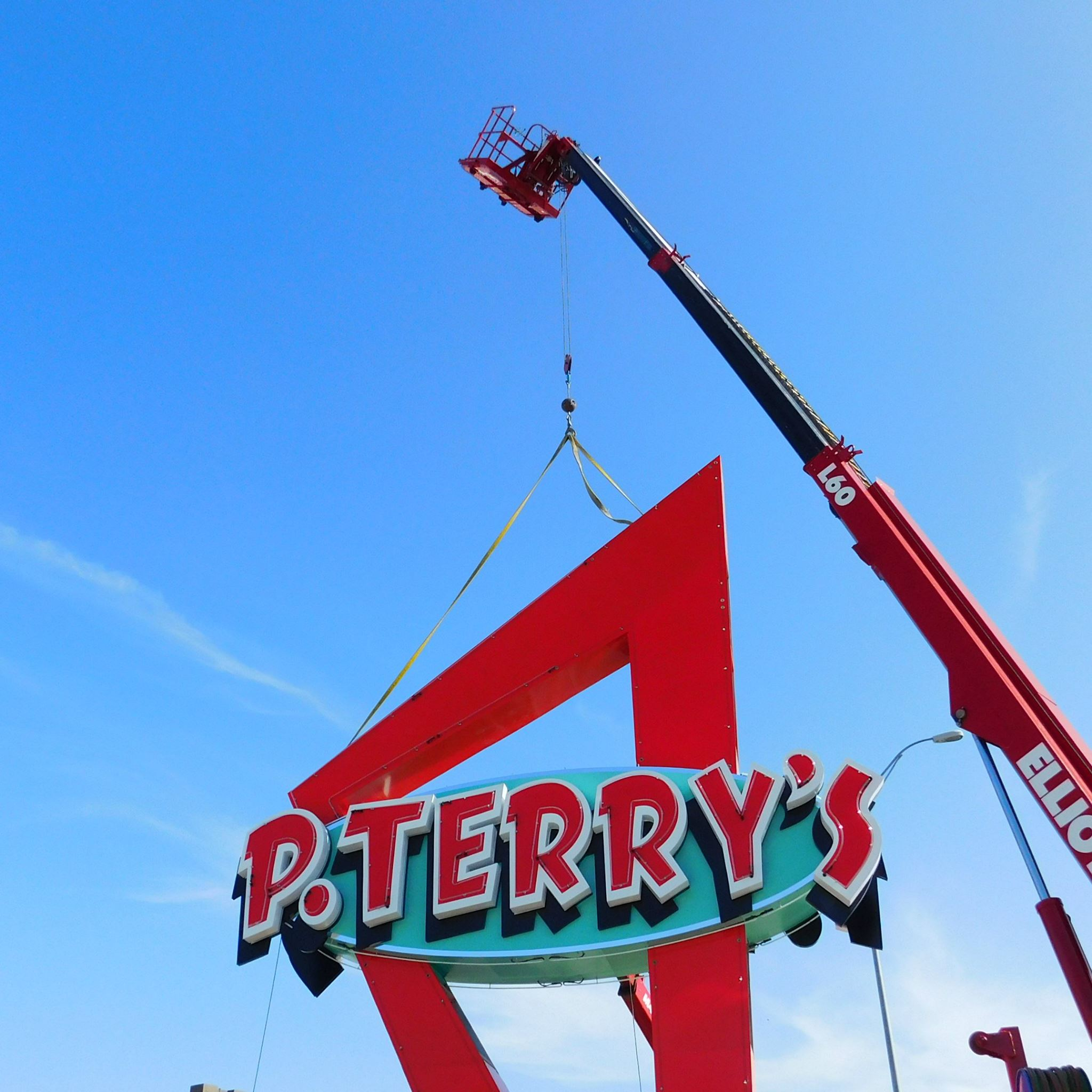 P. Terry's signage at Capital Plaza