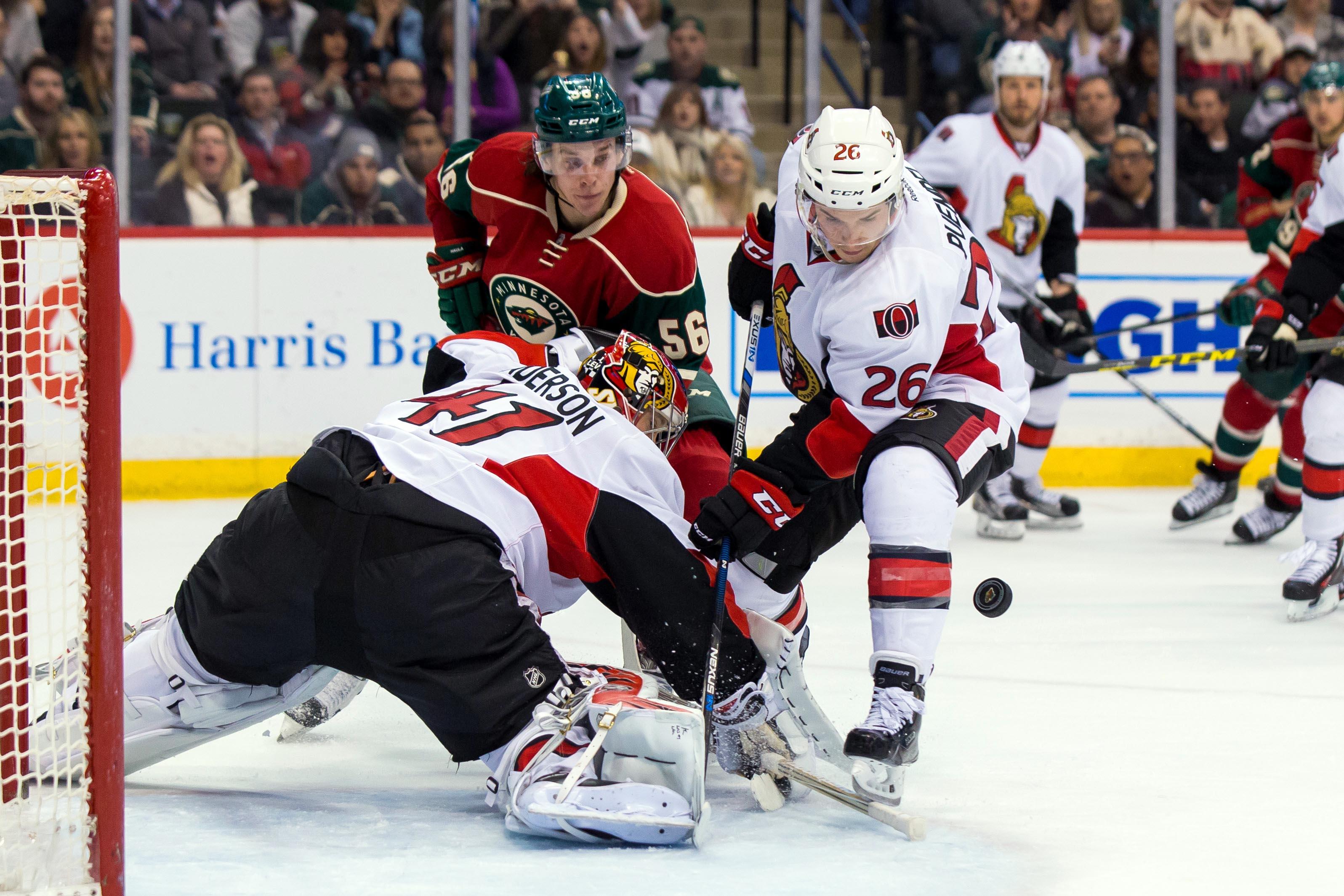 NHL: Ottawa Senators at Minnesota Wild